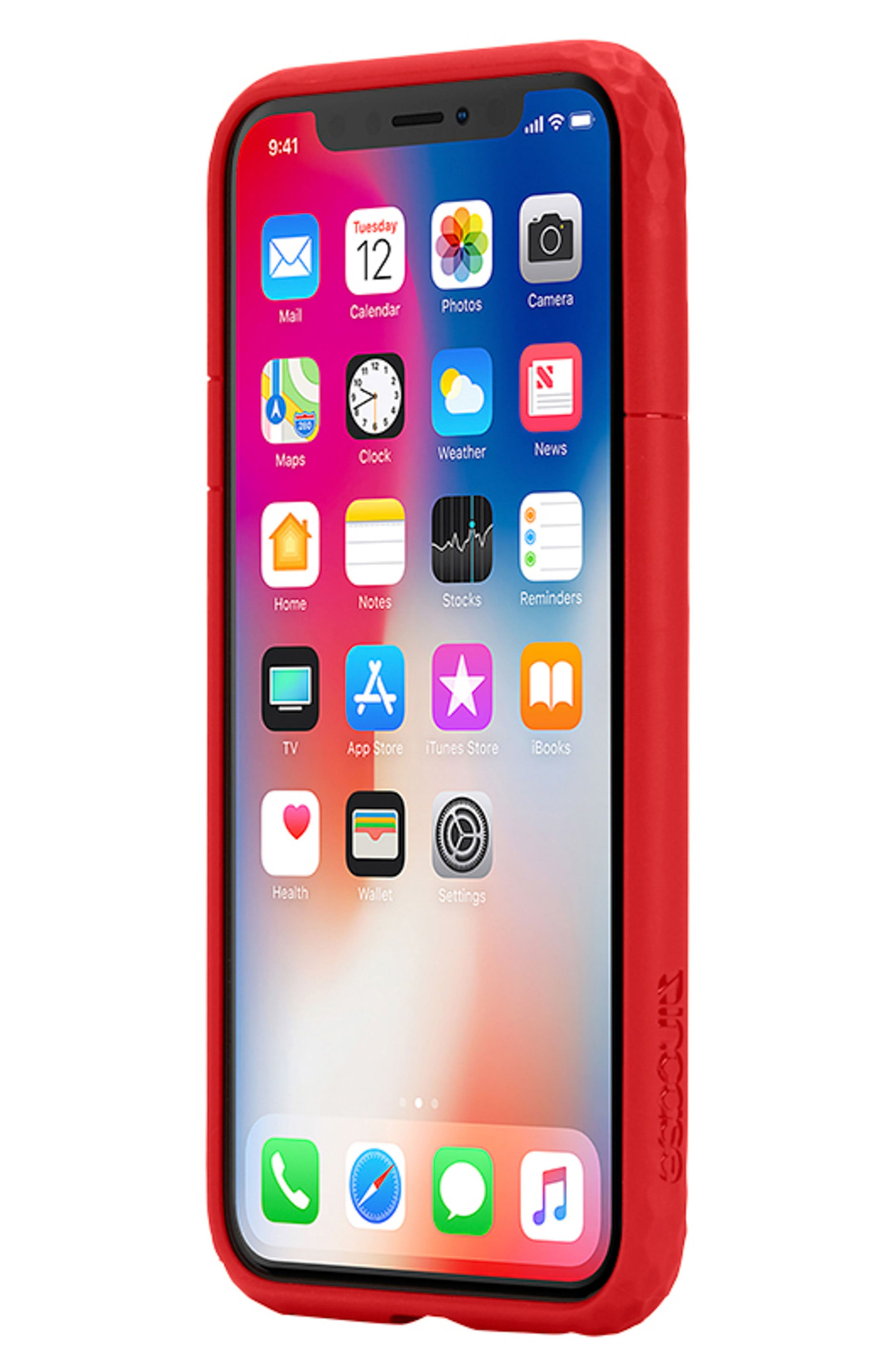 Frame iPhone X Case,                             Alternate thumbnail 7, color,                             Red