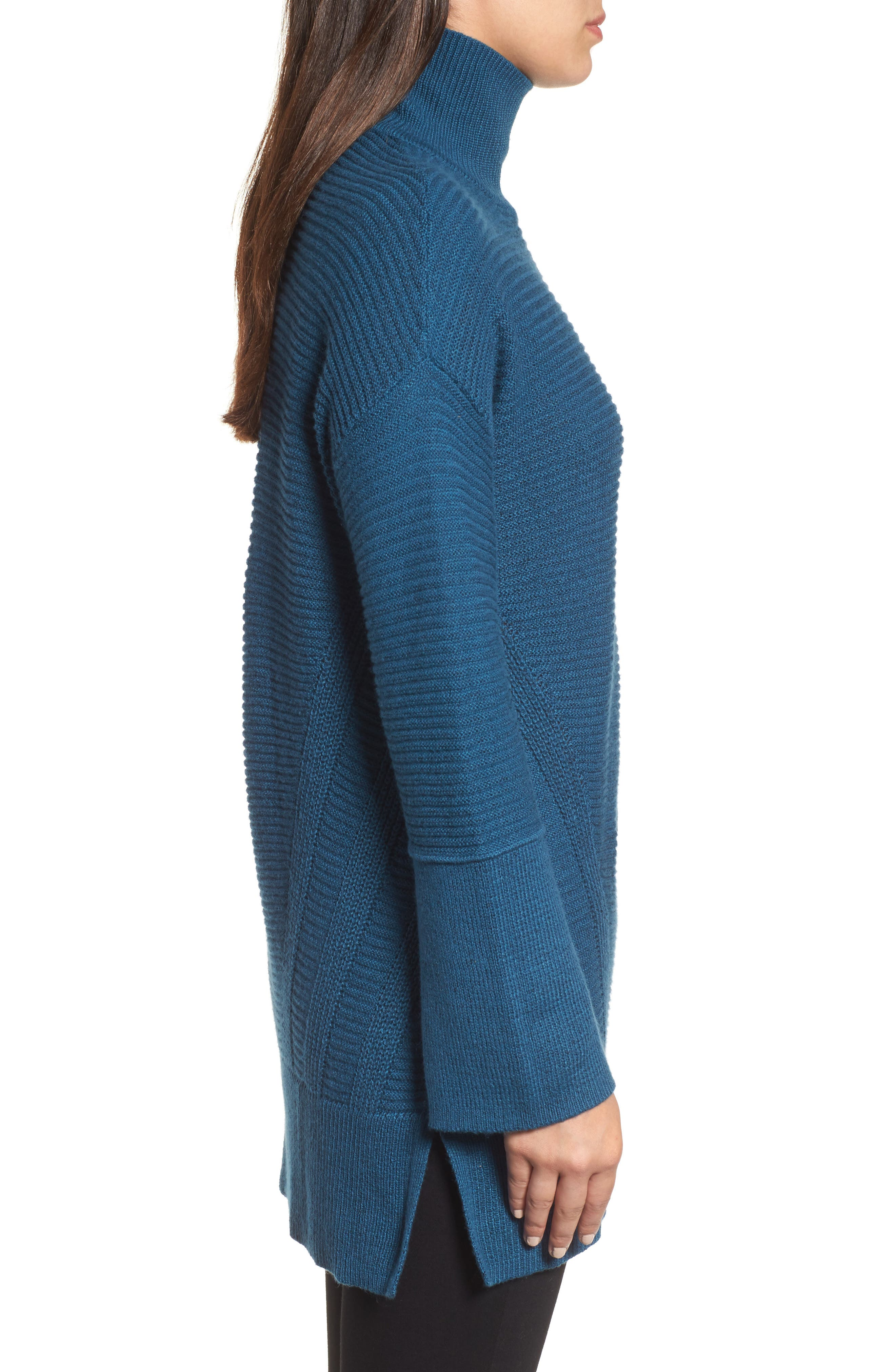 Alternate Image 3  - Caslon® Ribbed Turtleneck Tunic Sweater