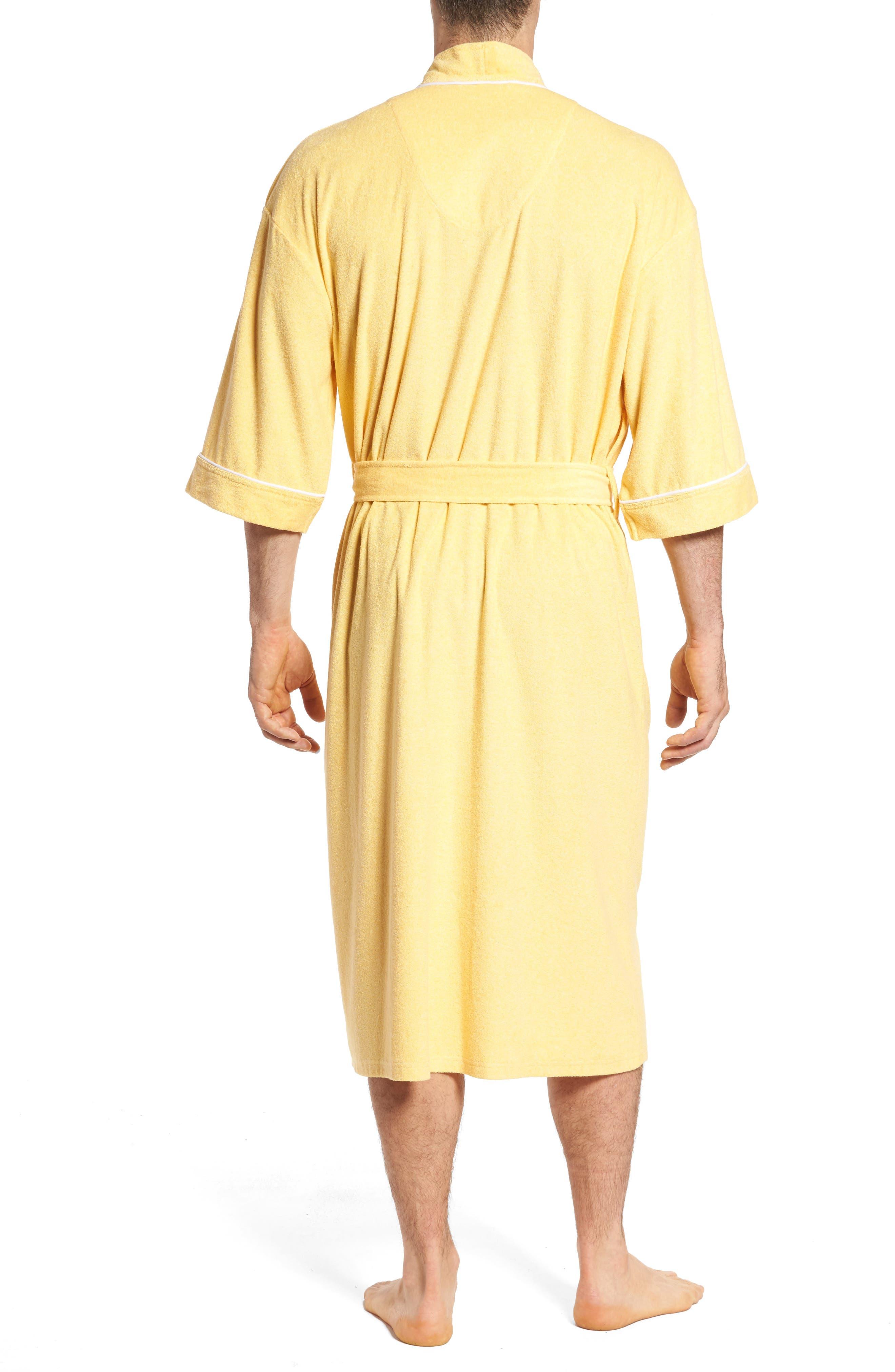 Kimono Cotton Blend Robe,                             Alternate thumbnail 2, color,                             Shine