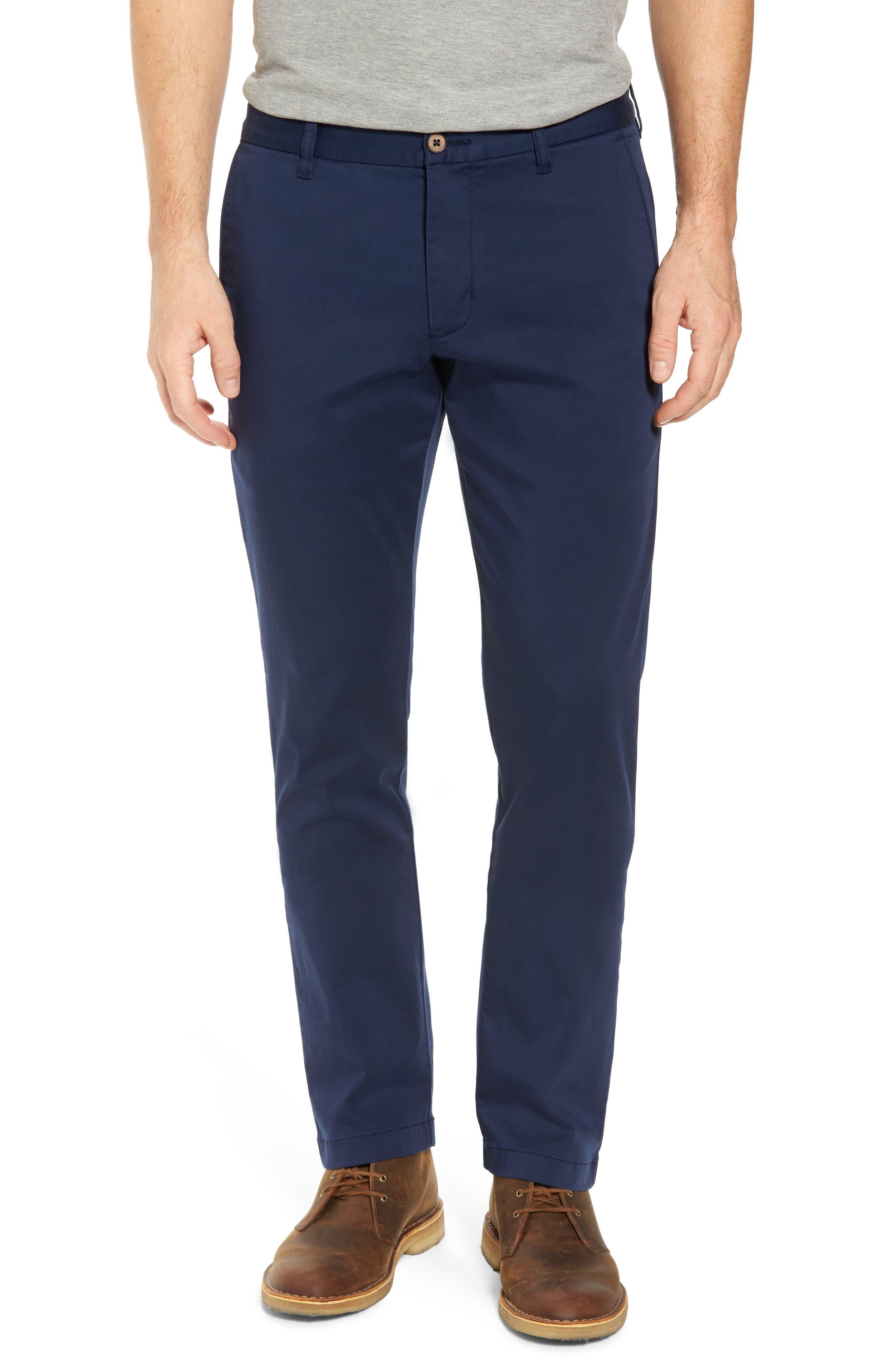 Boracay Flat Front Pants,                         Main,                         color, Maritime