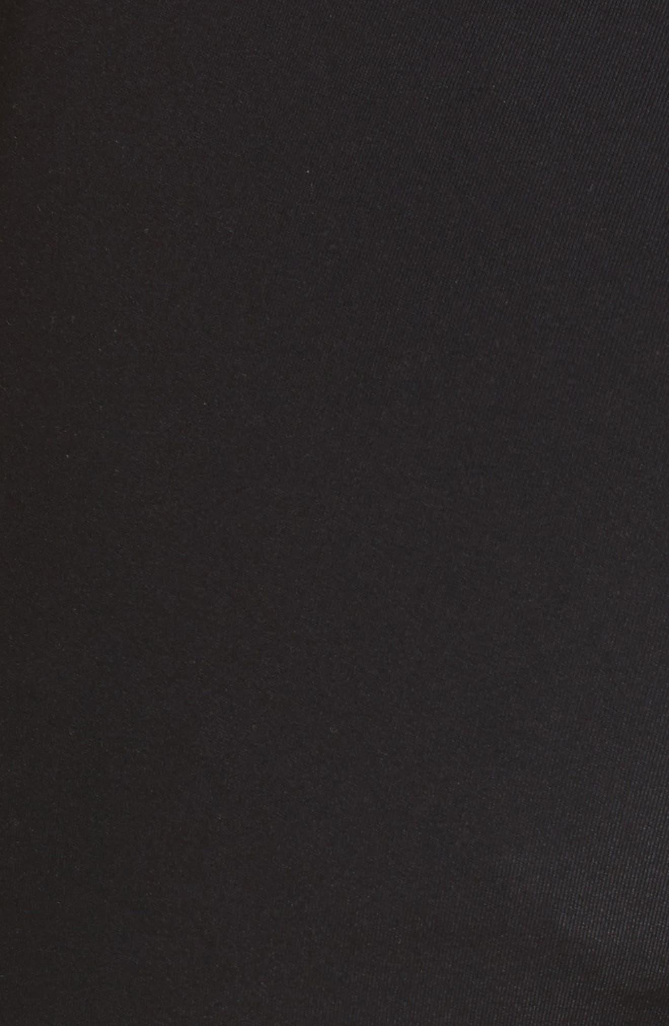 Technical Crop Flare Leggings,                             Alternate thumbnail 5, color,                             Black