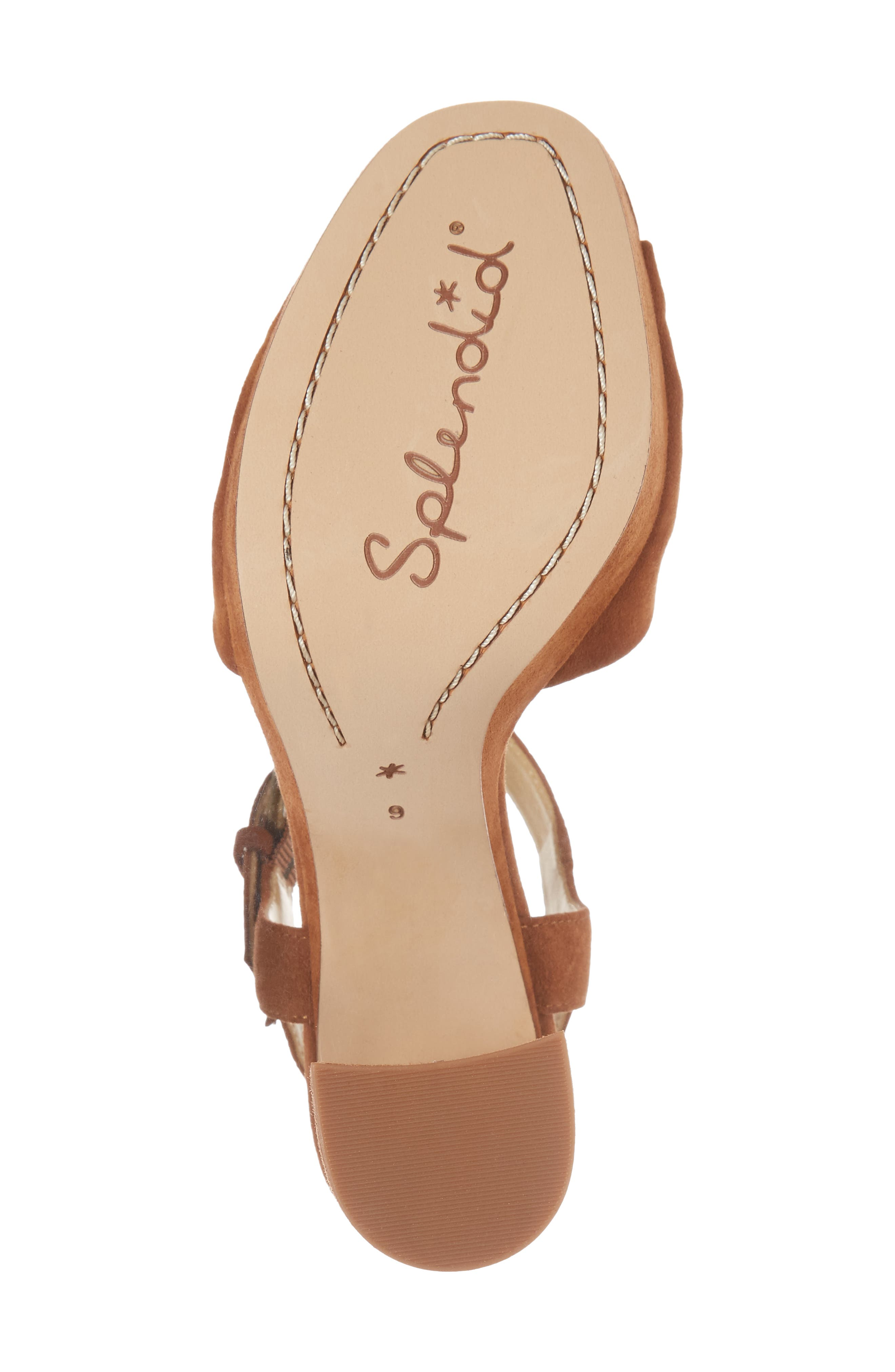 Bates Platform Sandal,                             Alternate thumbnail 6, color,                             Caramel Suede