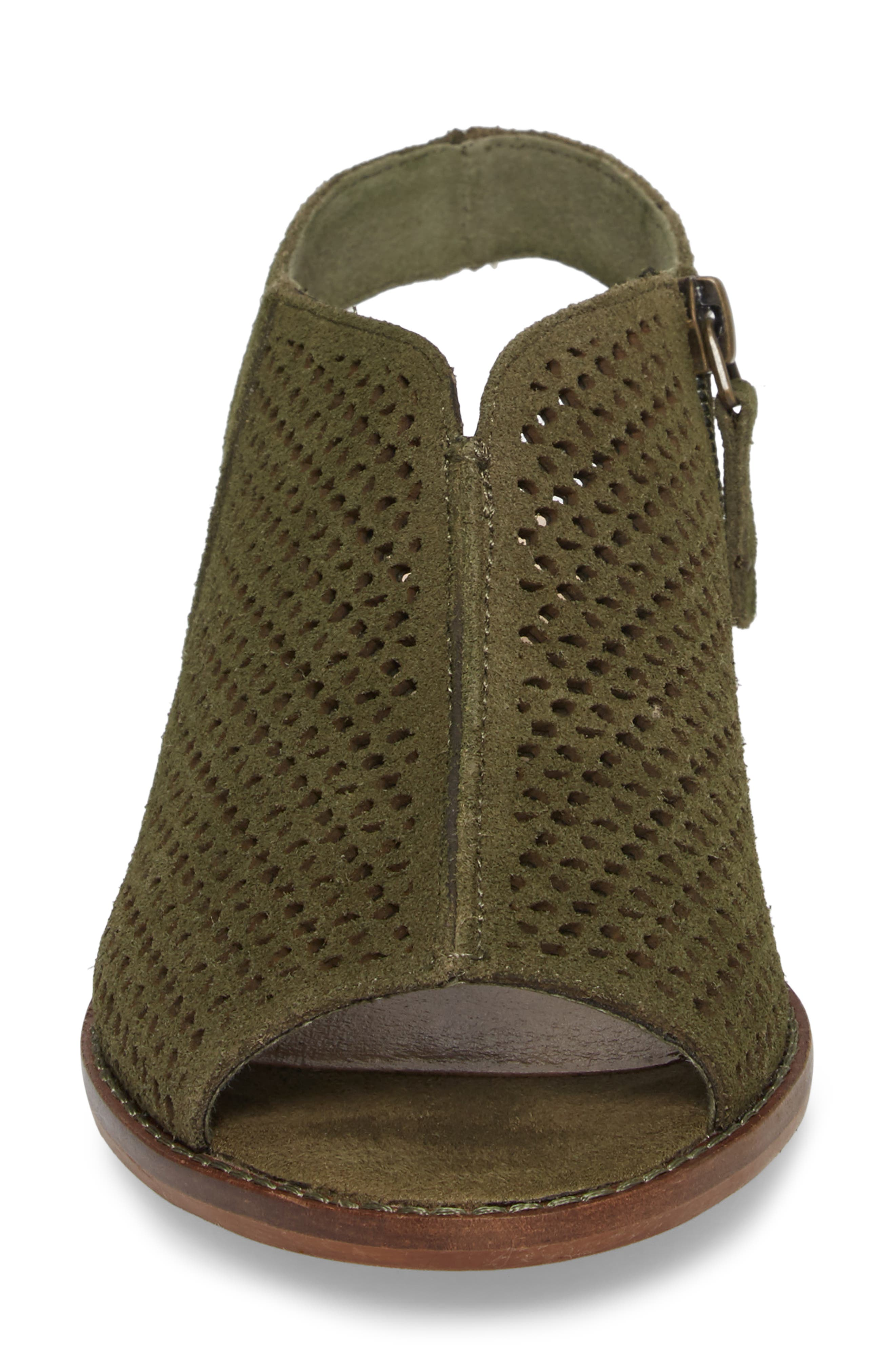 Seneca Perforated Sandal,                             Alternate thumbnail 4, color,                             Olive