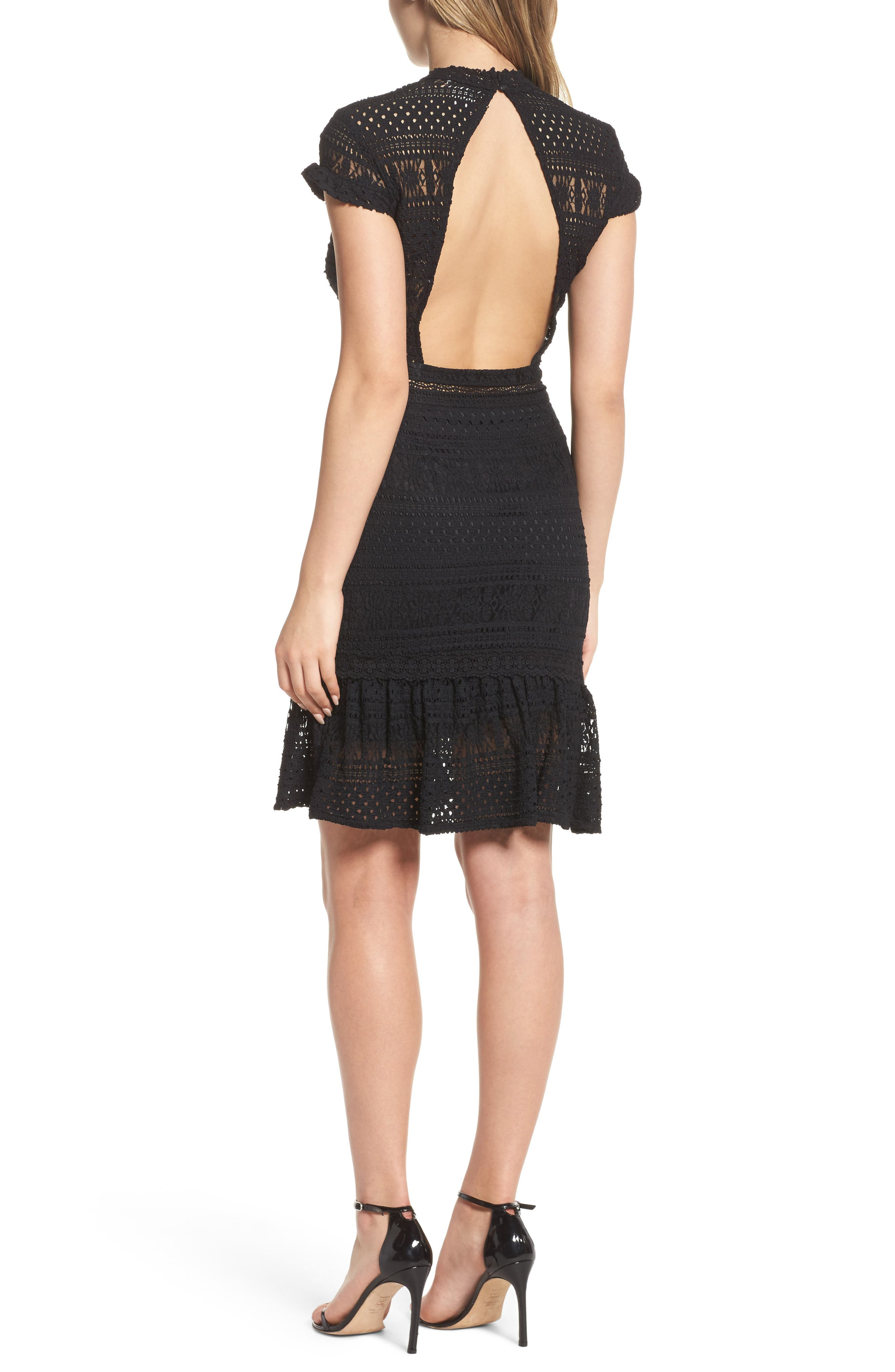 Alternate Image 2  - Foxiedox Ellie Fit & Flare Lace Dress