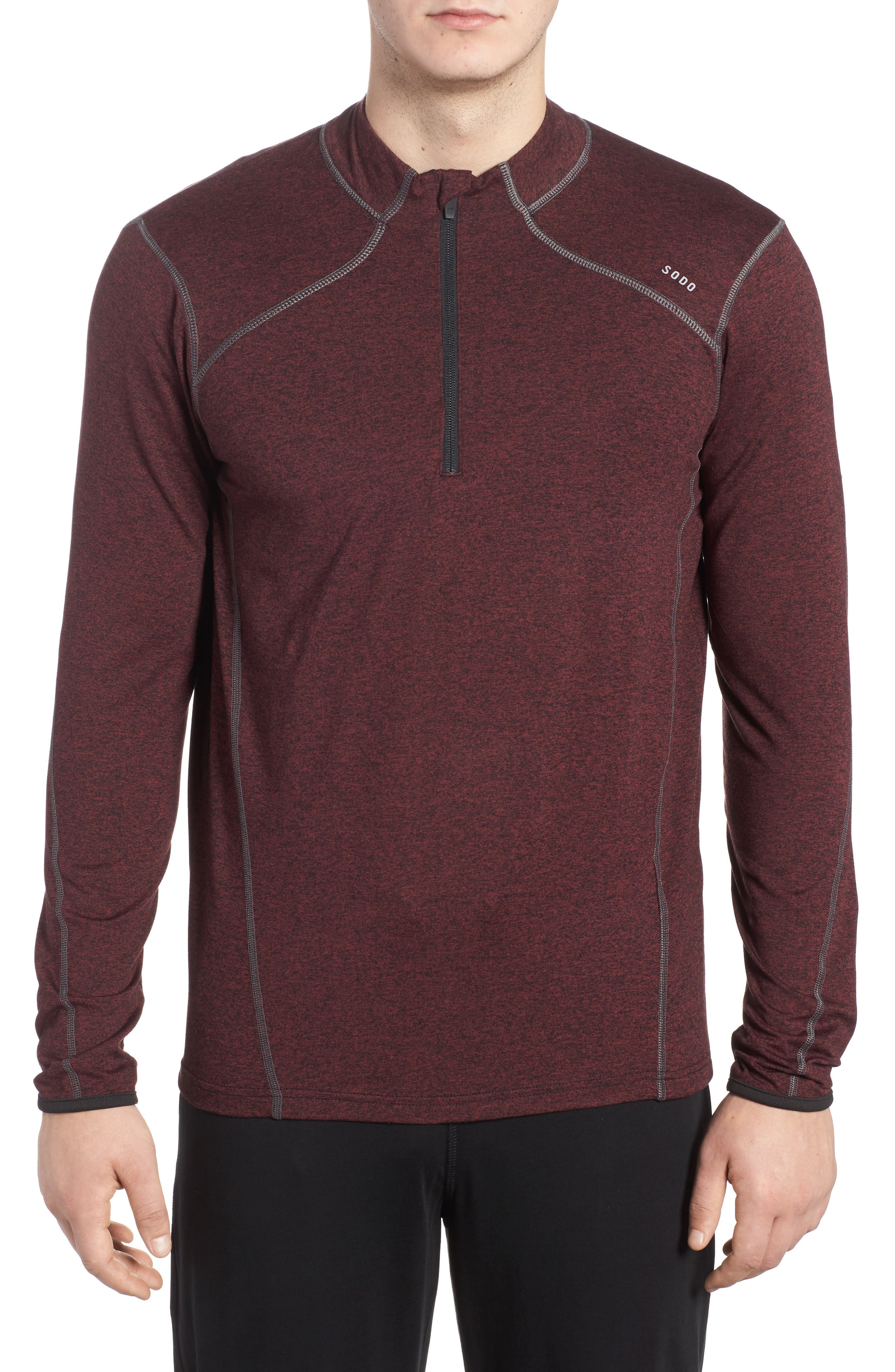 Main Image - SODO 'Elevate' Moisture Wicking Stretch Quarter Zip Pullover