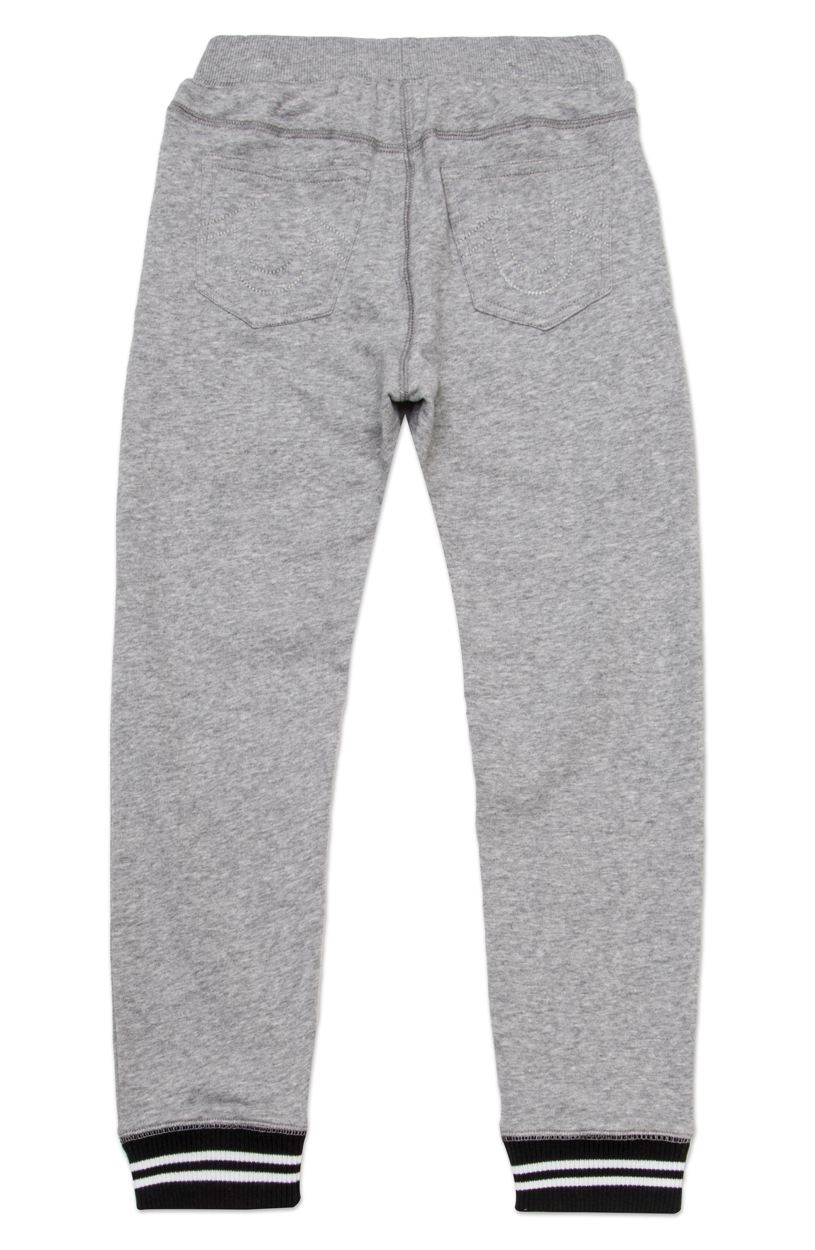 Tipped Sweatpants,                             Alternate thumbnail 2, color,                             Heather Grey