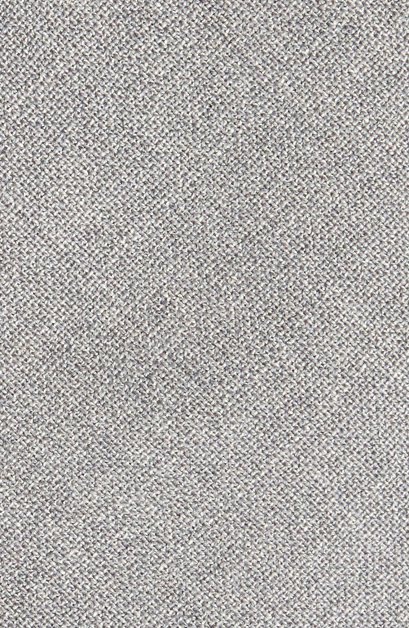 Jaspé Wool Skinny Tie,                             Alternate thumbnail 2, color,                             Pearl Grey