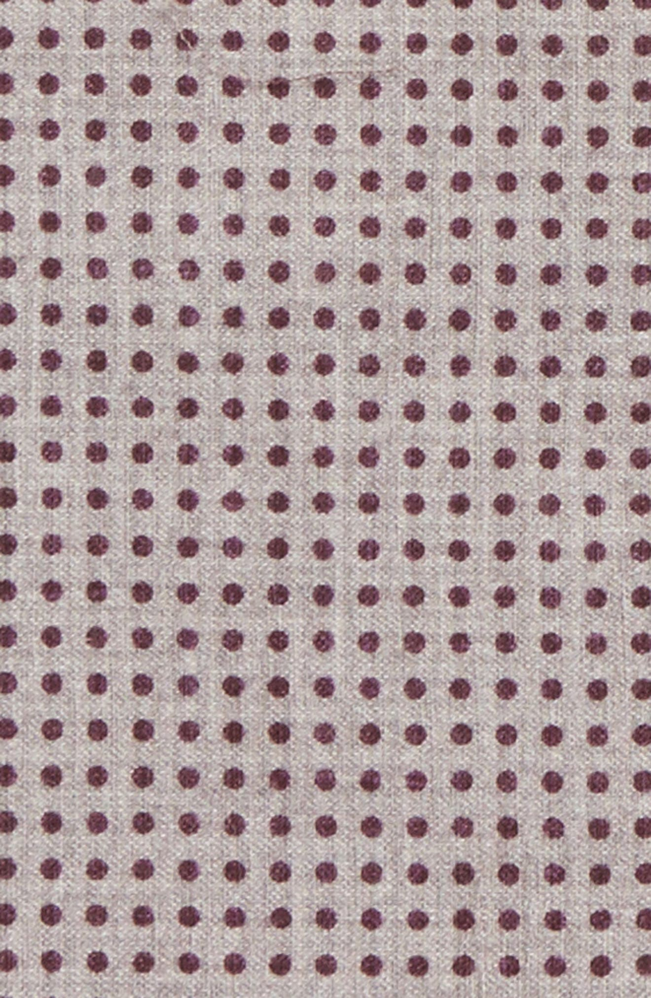 Dot Wool & Cotton Pocket Square,                             Alternate thumbnail 2, color,                             Violet