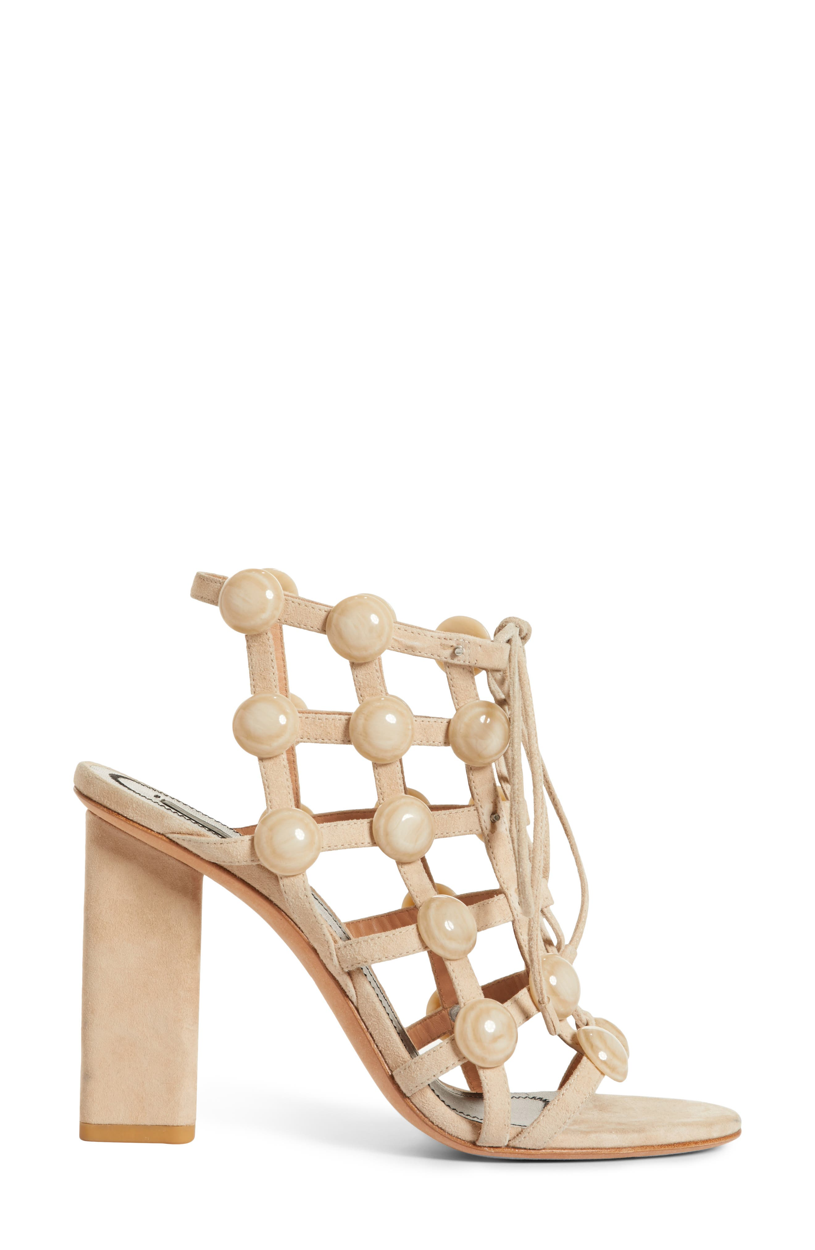 Rubie Studded Sandal,                             Alternate thumbnail 3, color,                             Cashmere