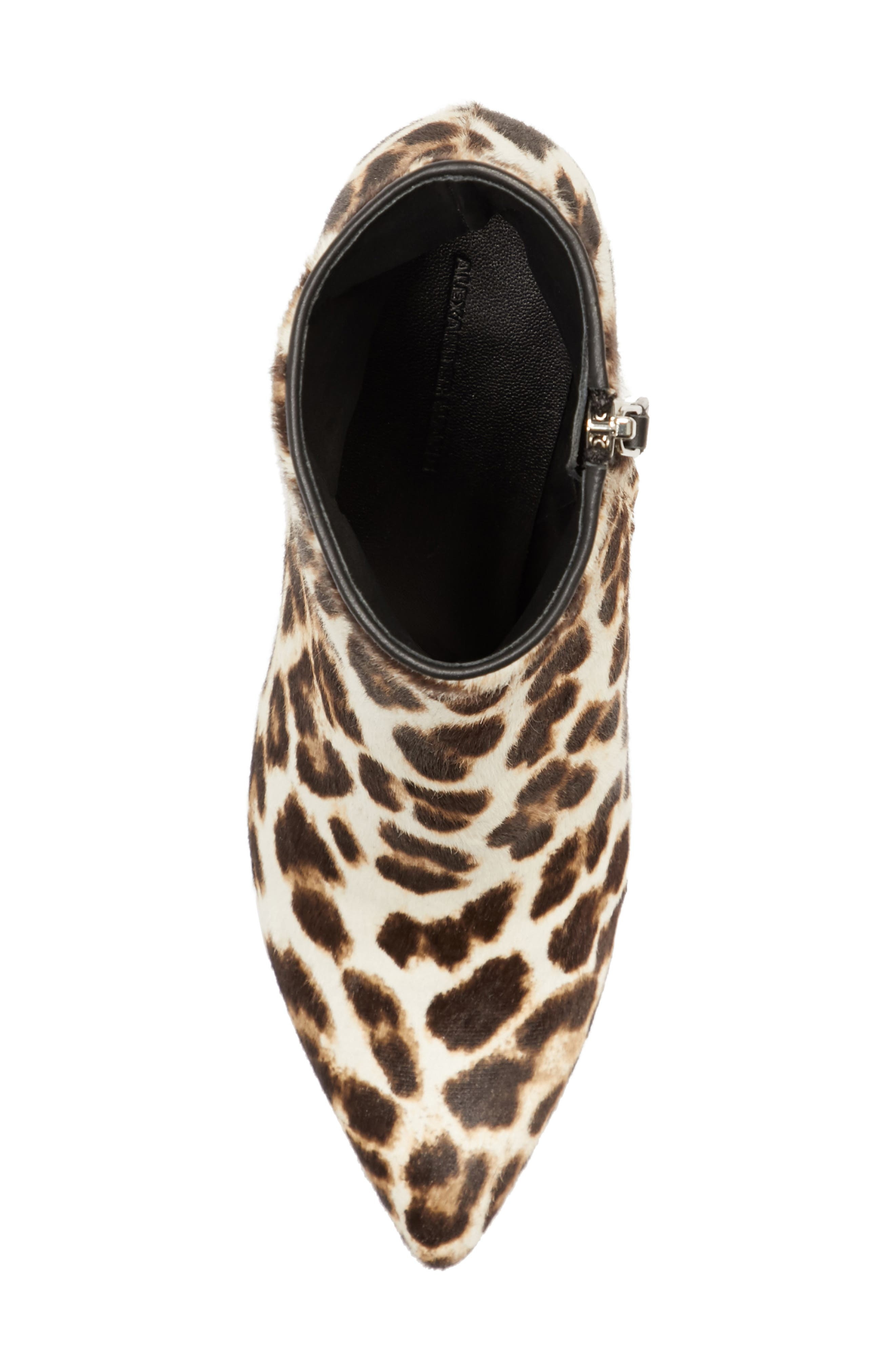 Jude Genuine Calf Hair Bootie,                             Alternate thumbnail 5, color,                             Leopard Print