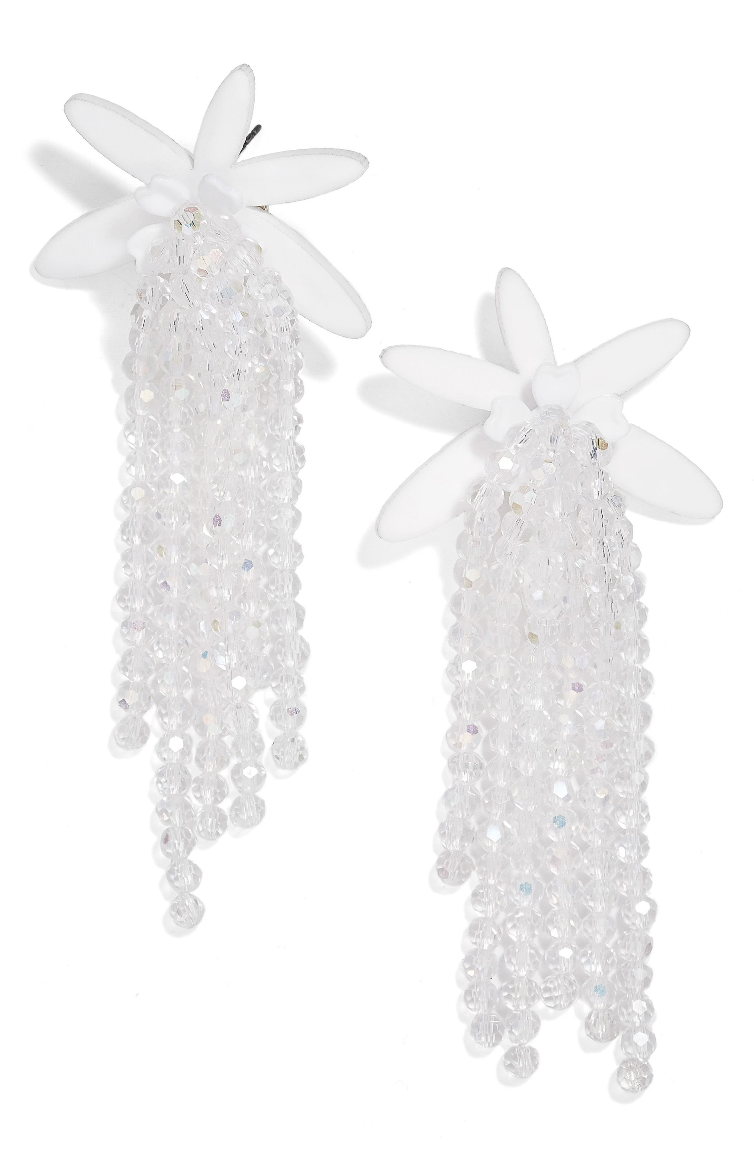 Lily Drop Earrings,                         Main,                         color, White/ Iridescent