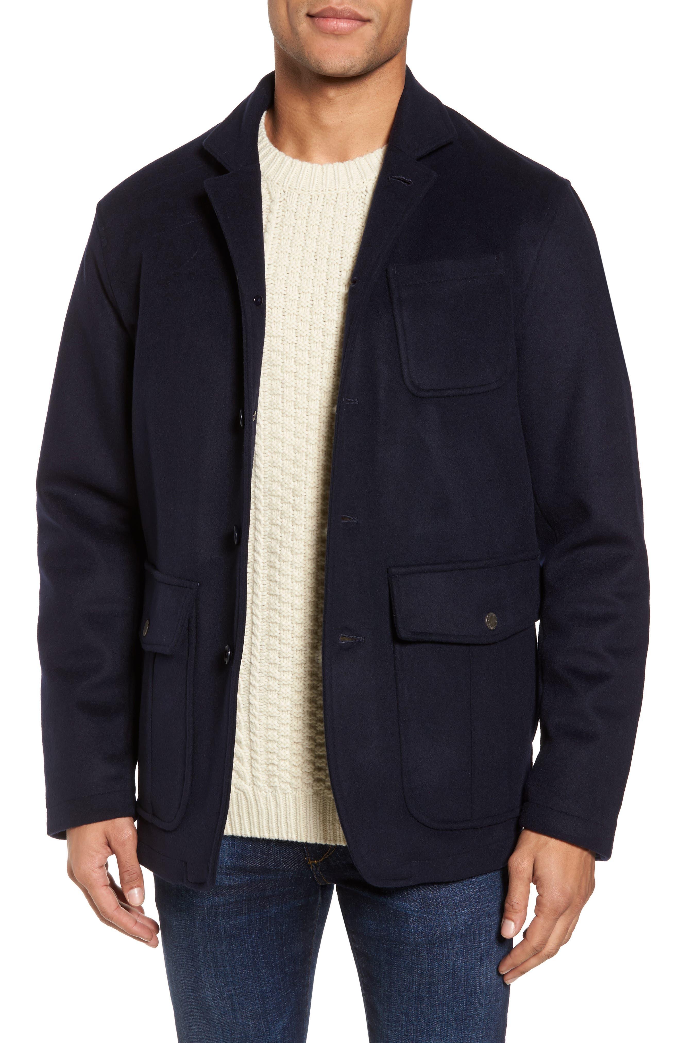 Wool Hybrid Blazer,                         Main,                         color, Navy