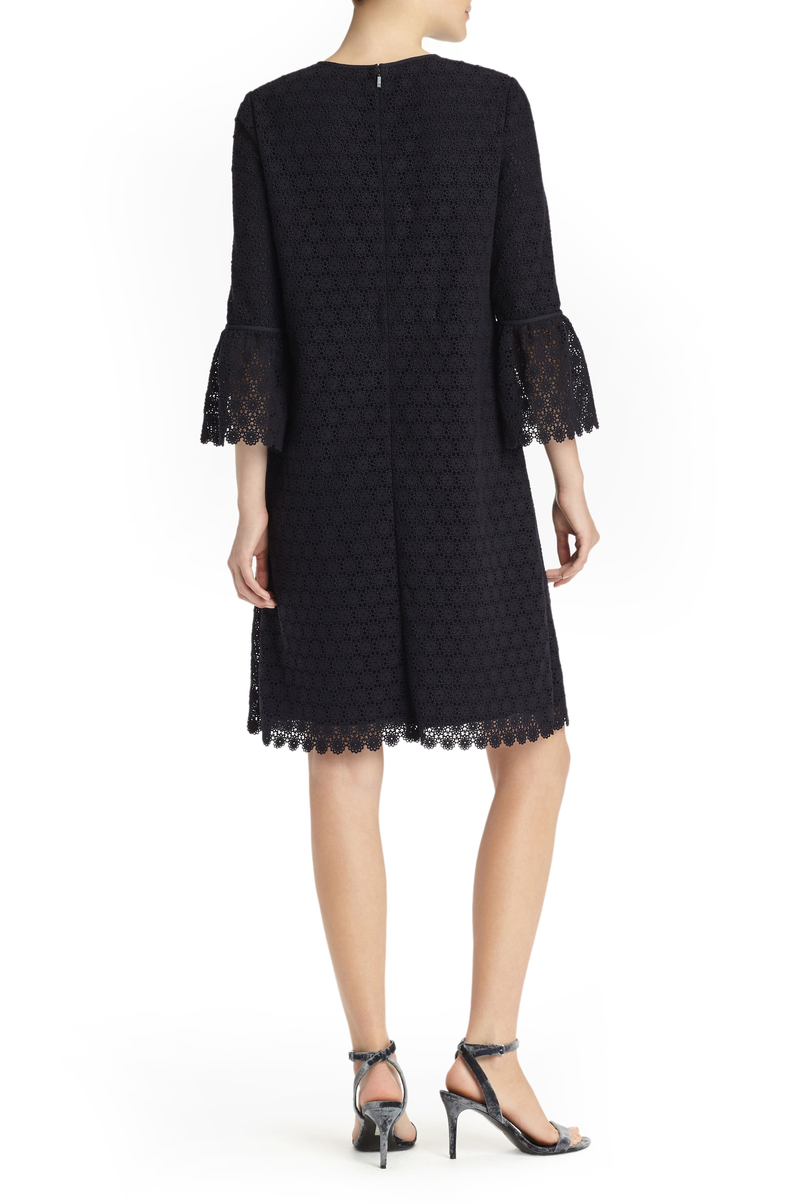 Sidra Bell Sleeve Lace Dress,                             Alternate thumbnail 2, color,                             Ink