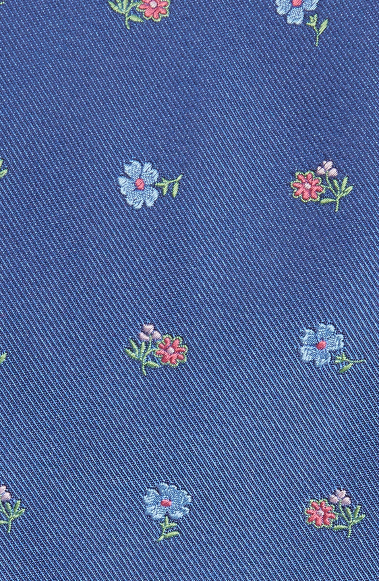 Floral Jacquard Silk Tie,                             Alternate thumbnail 2, color,                             Dark Blue