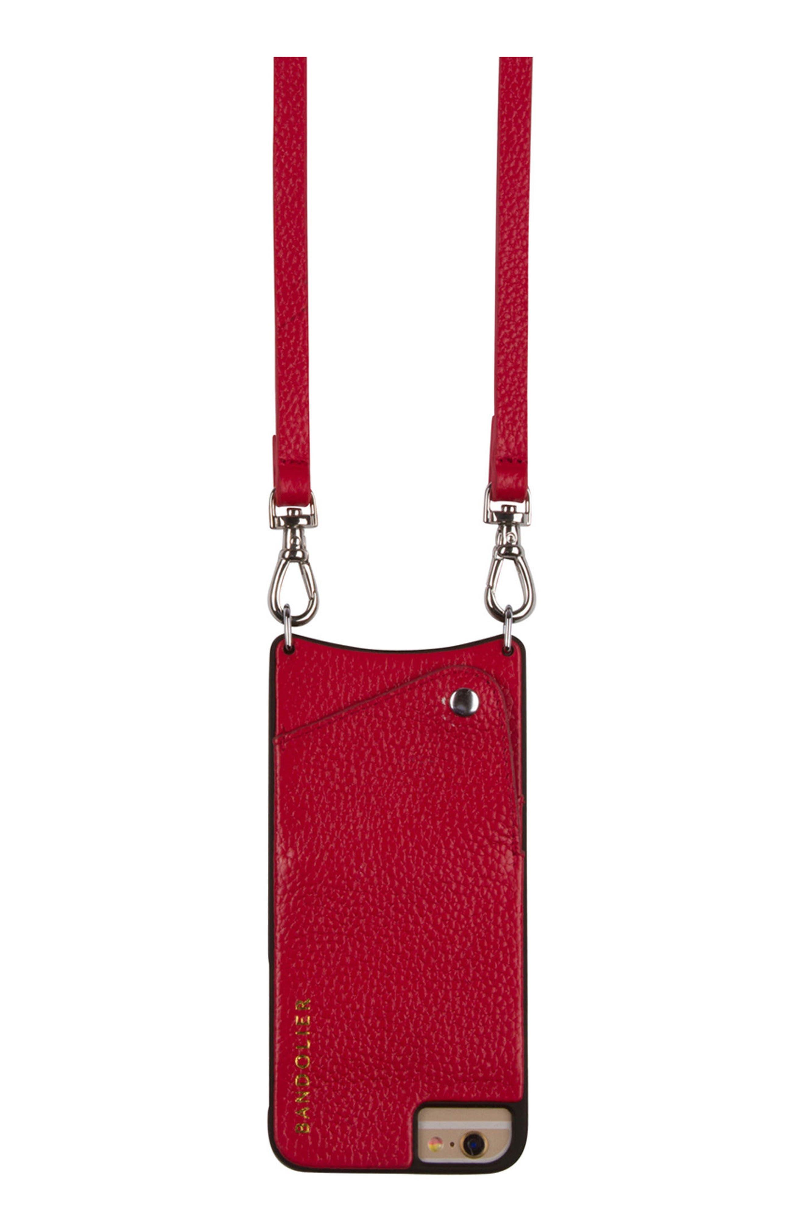 Bandolier Emma iPhone 6/6s/7/8 Plus Leather Crossbody Case