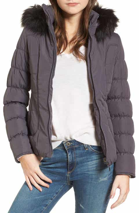 Maralyn Me Quilted Jacket With Faux Fur Collar Up To 70