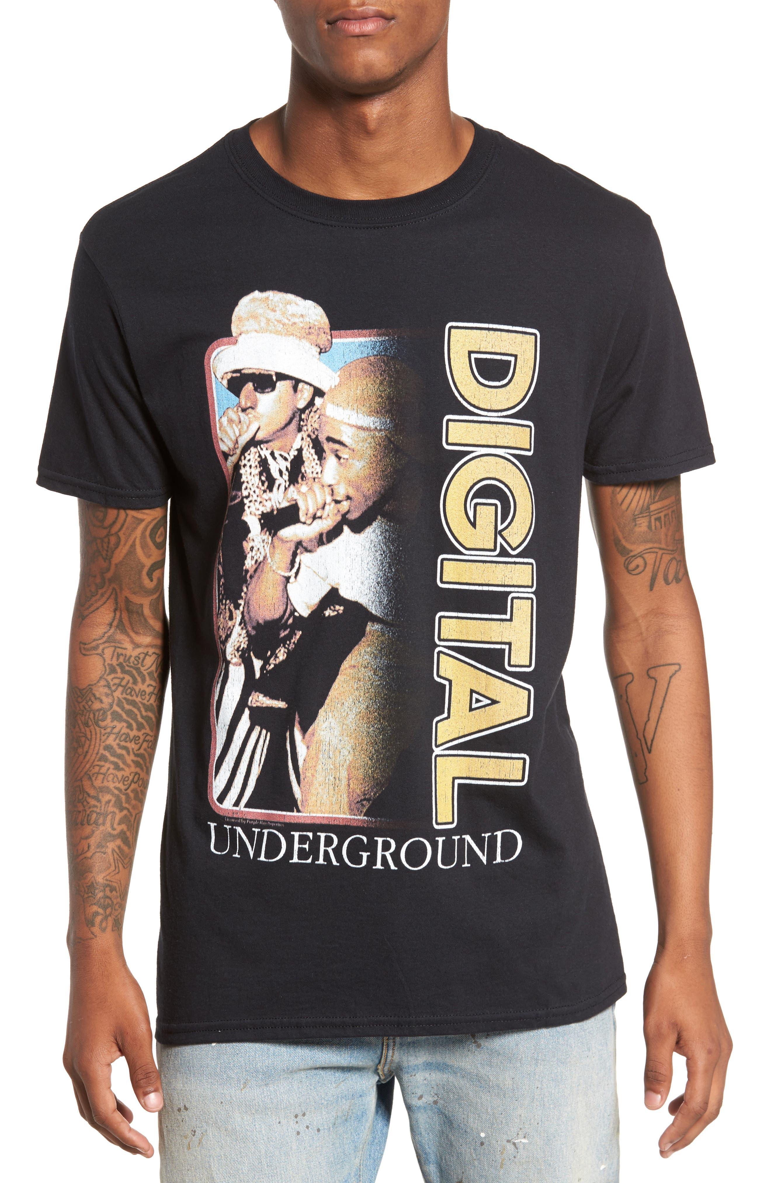 Digital Underground T-Shirt,                         Main,                         color, Black Digital Underground