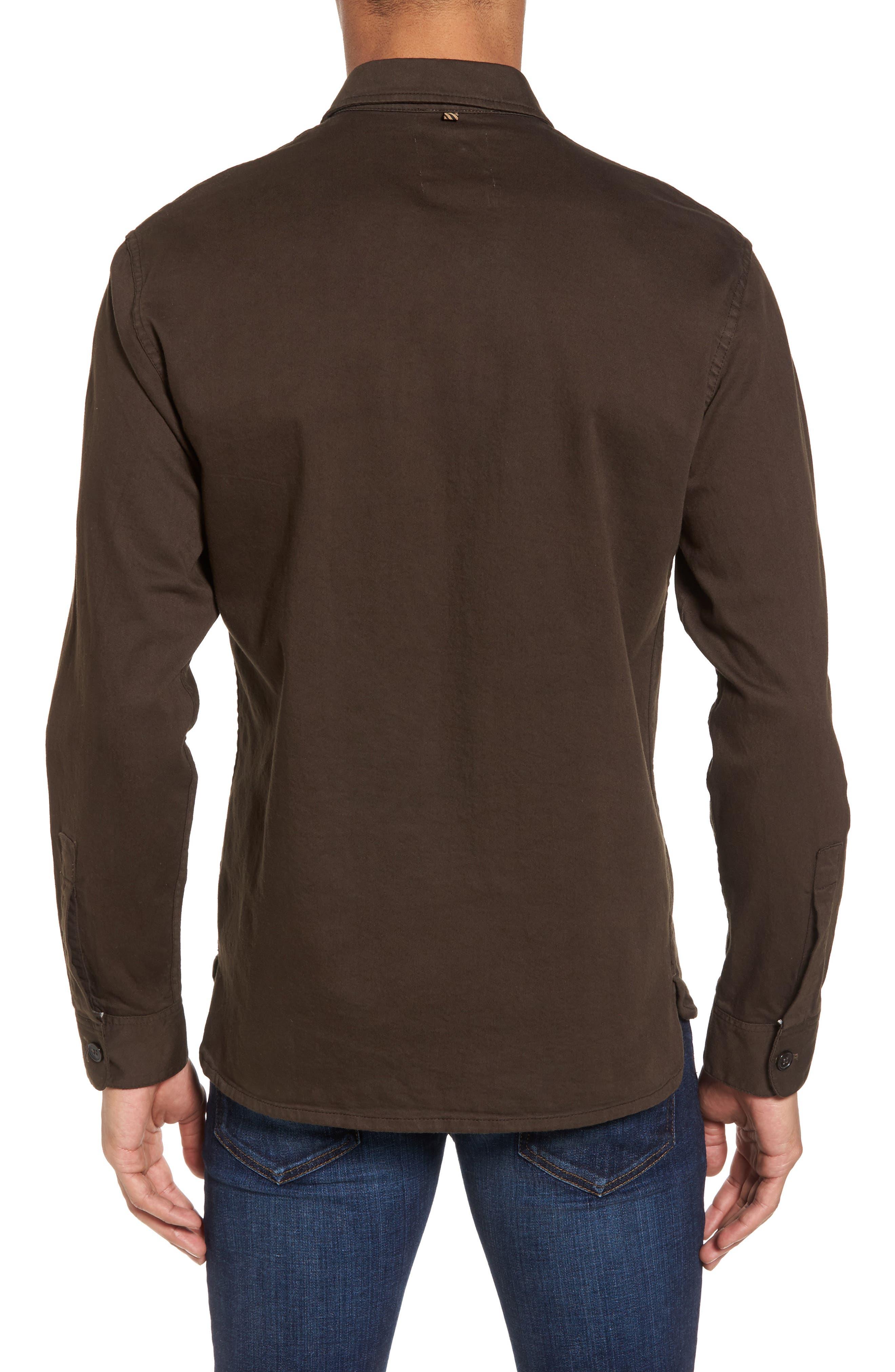 Alternate Image 2  - Billy Reid Selvedge Denim Sport Shirt