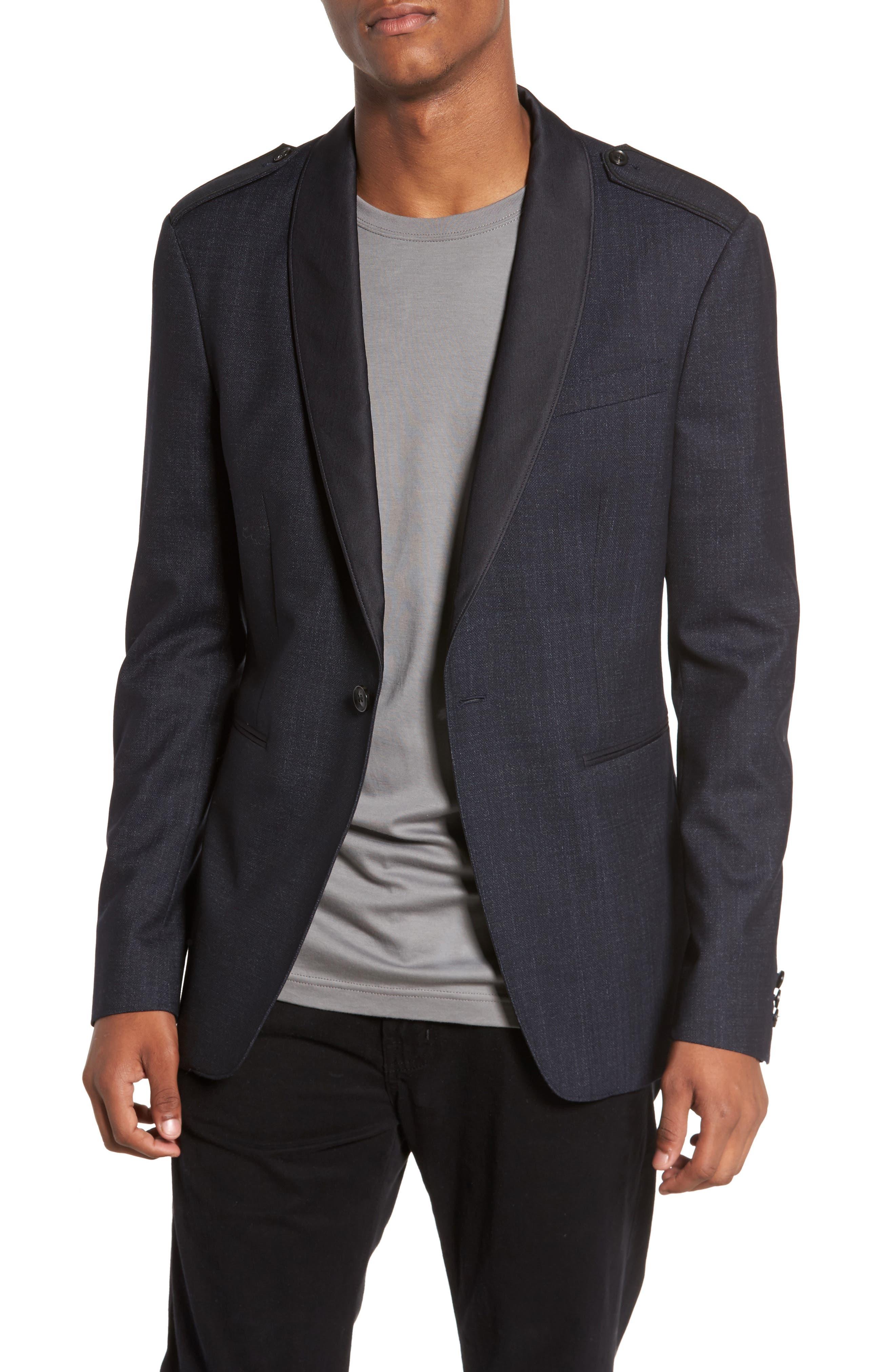 John Varvatos Star USA Shawl Collar Wool Blazer