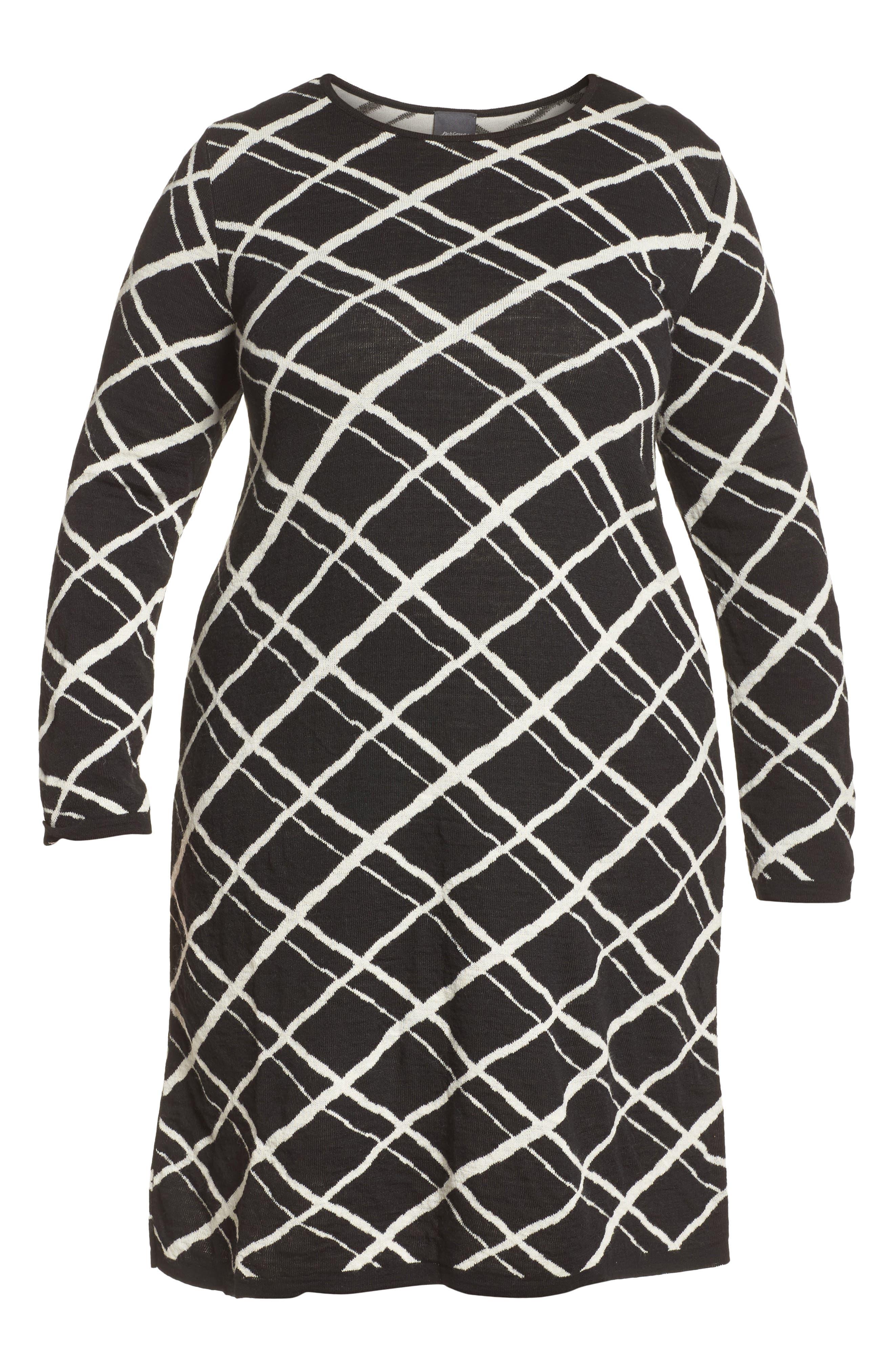 Alternate Image 6  - Persona by Marina Rinaldi Genesi Checkered Knit Dress (Plus Size)