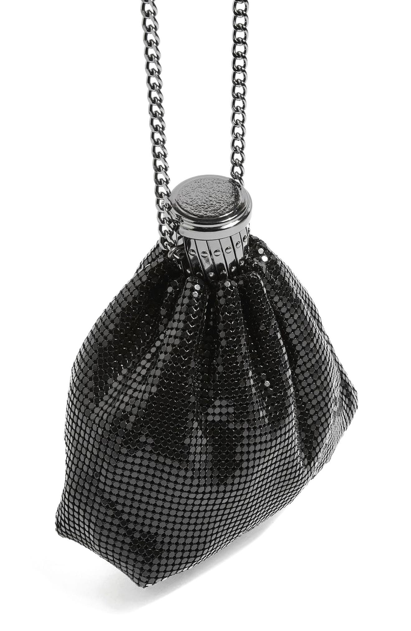 Chain Mail Pouch Crossbody Bag,                             Main thumbnail 1, color,                             Silver
