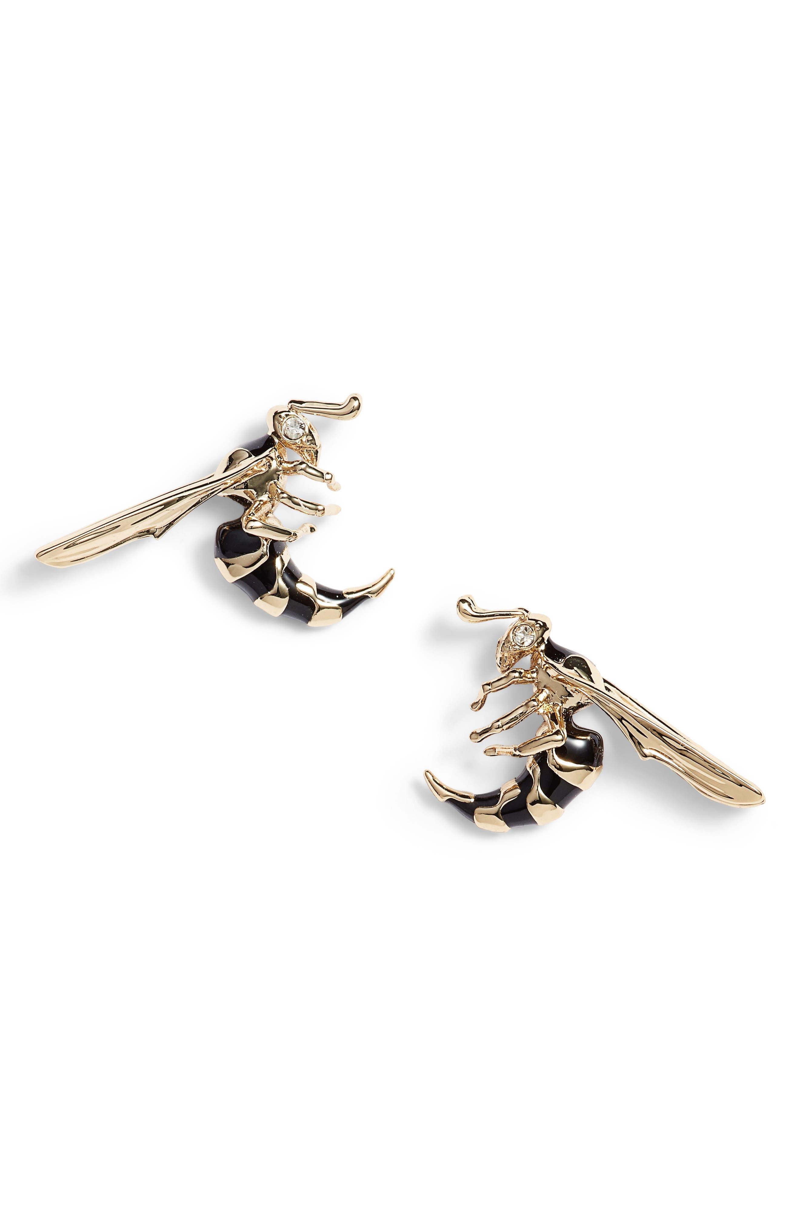 Alternate Image 1 Selected - Alexis Bittar Enameled Hornet Stud Earrings