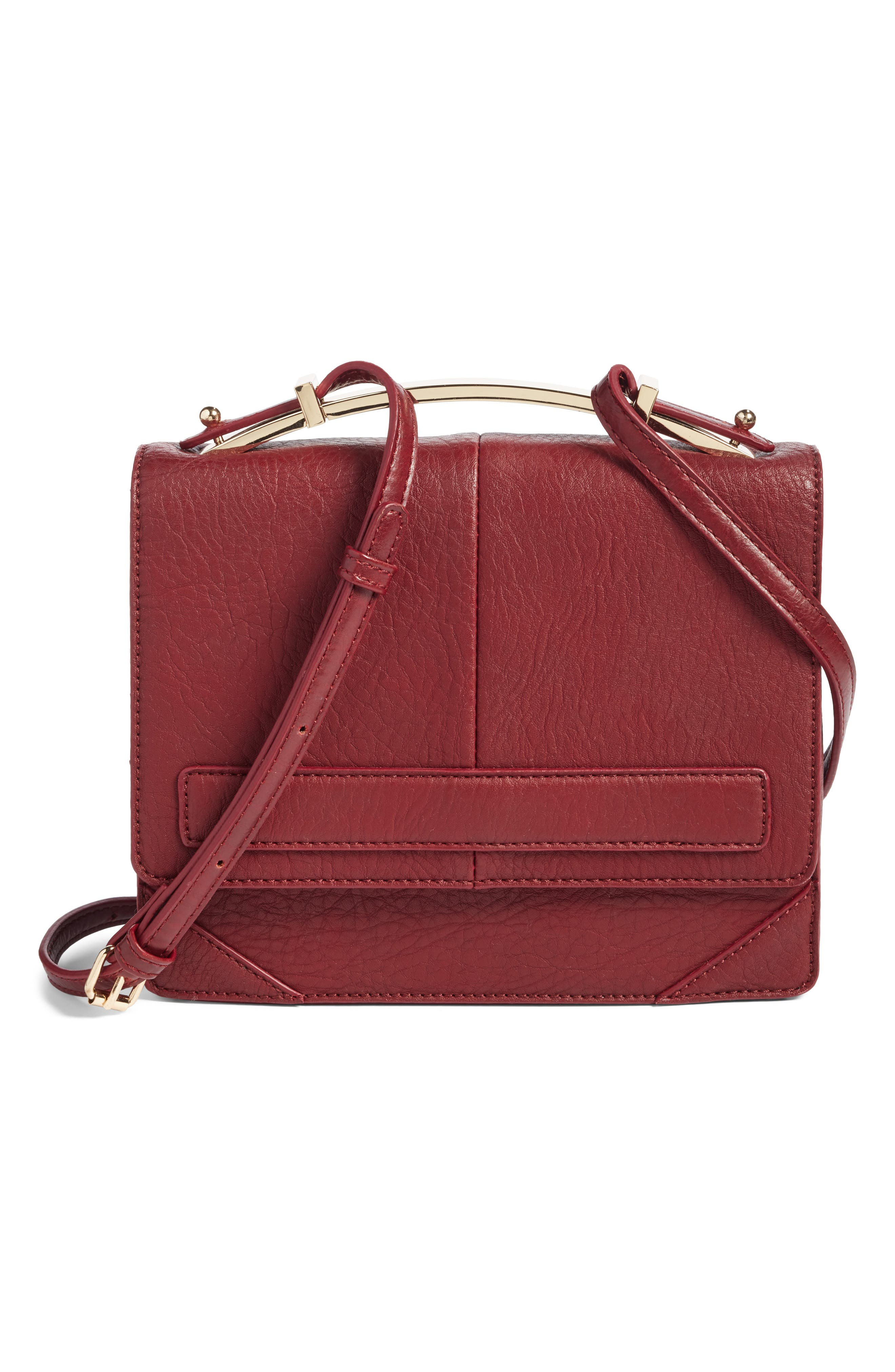 Main Image - Sole Society Krista Faux Leather Crossbody Bag