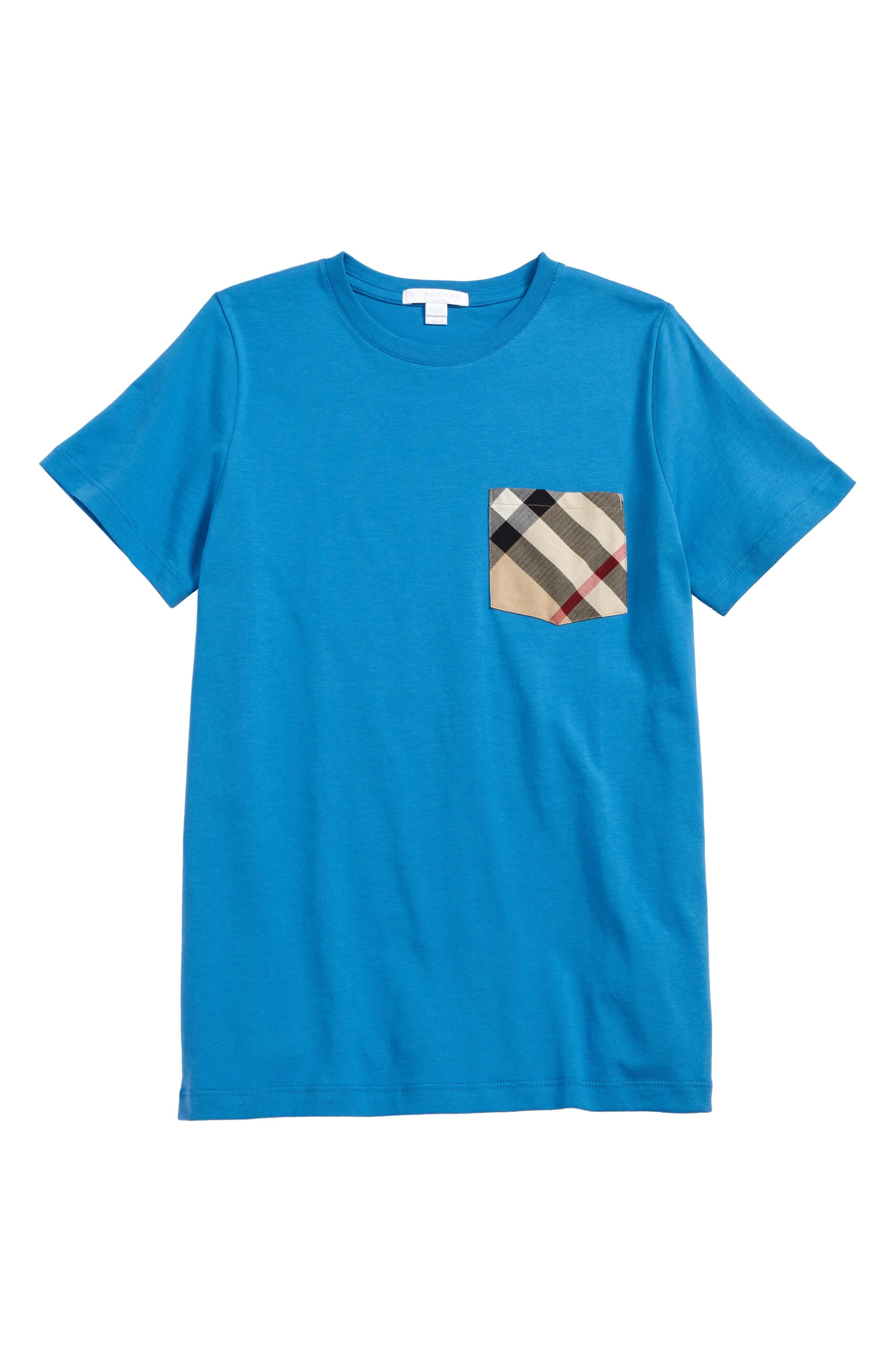 Pocket T-Shirt,                         Main,                         color, Cyan Blue