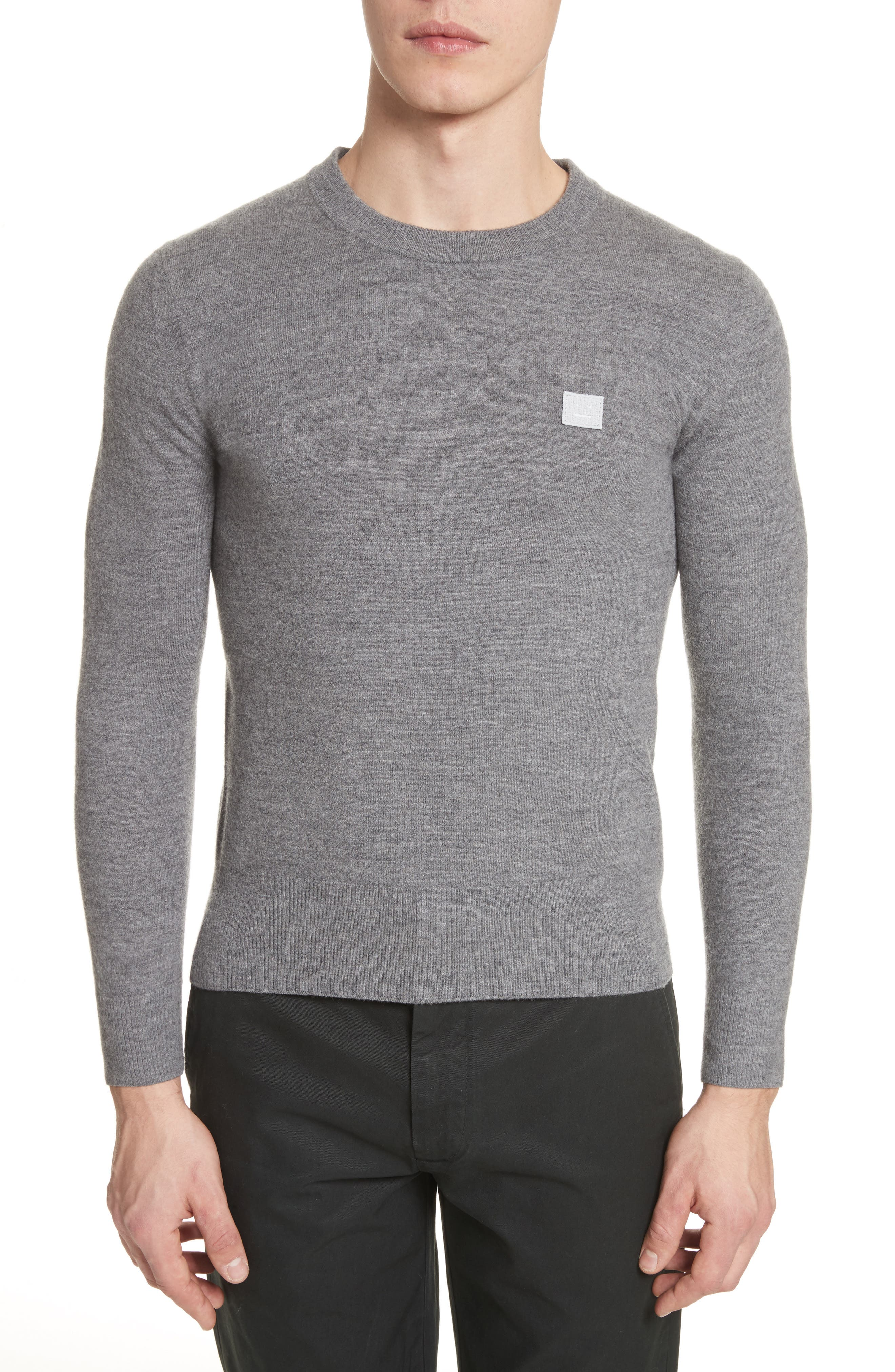 Nalon Wool Sweater,                         Main,                         color, Grey Melange