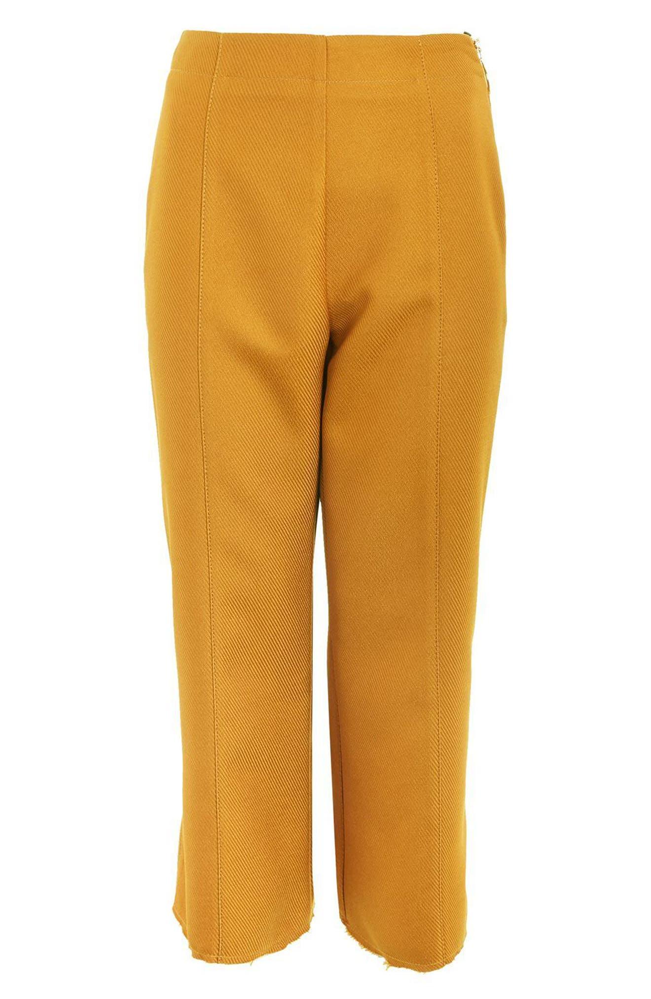 Alternate Image 5  - Topshop Bonded Kick Flare Trousers