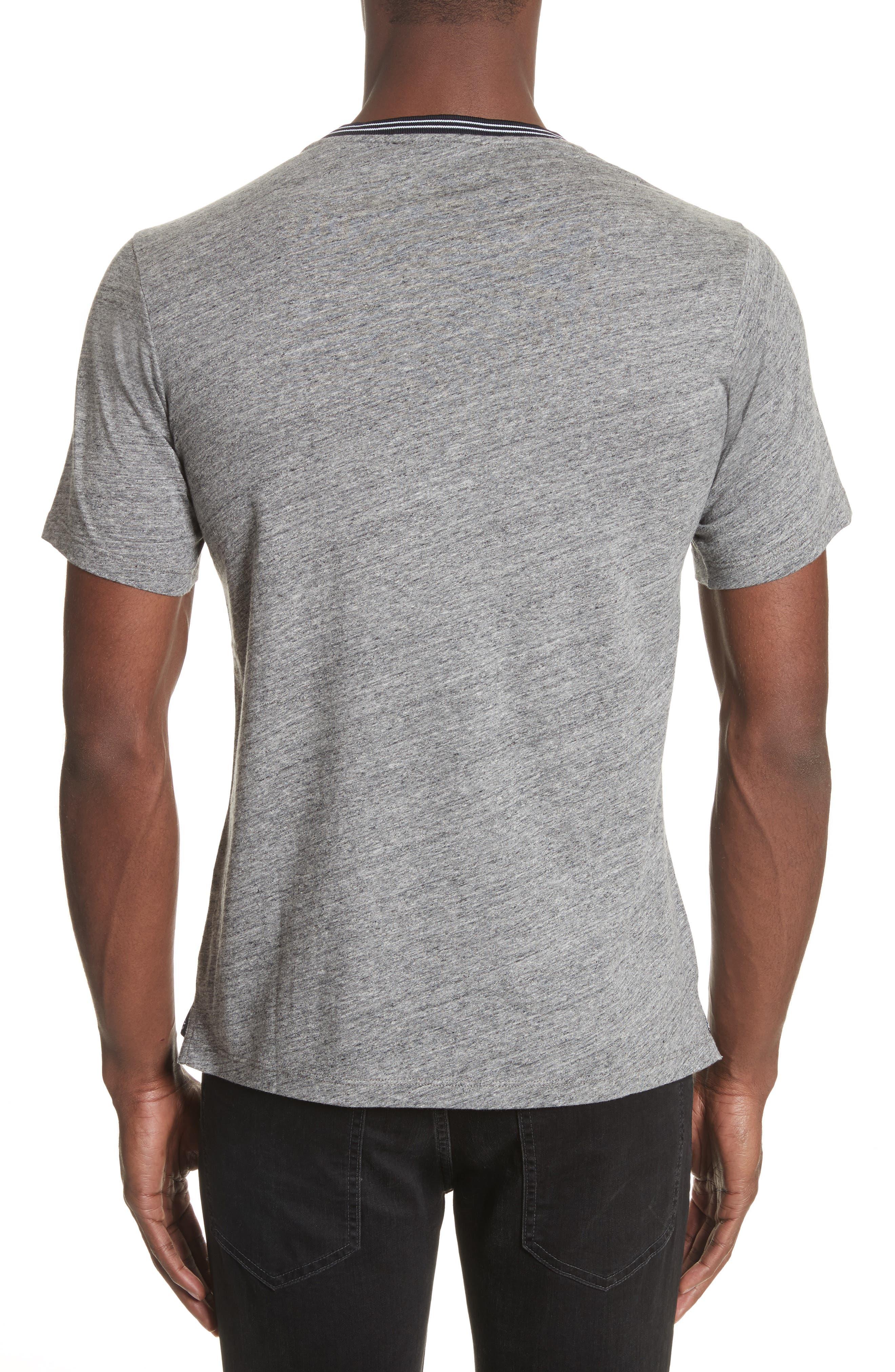 Ribbed Contrast T-Shirt,                             Alternate thumbnail 2, color,                             Grey