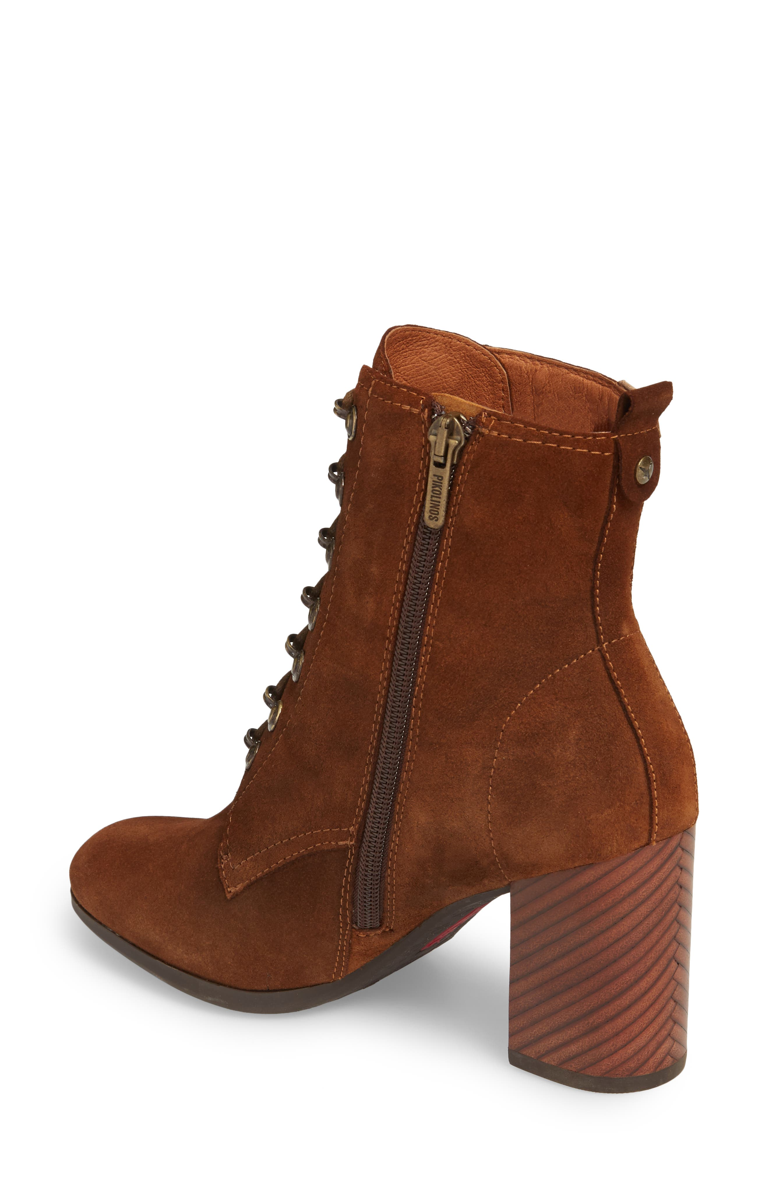 Aragon Lace-Up Boot,                             Alternate thumbnail 2, color,                             Brandy Leather