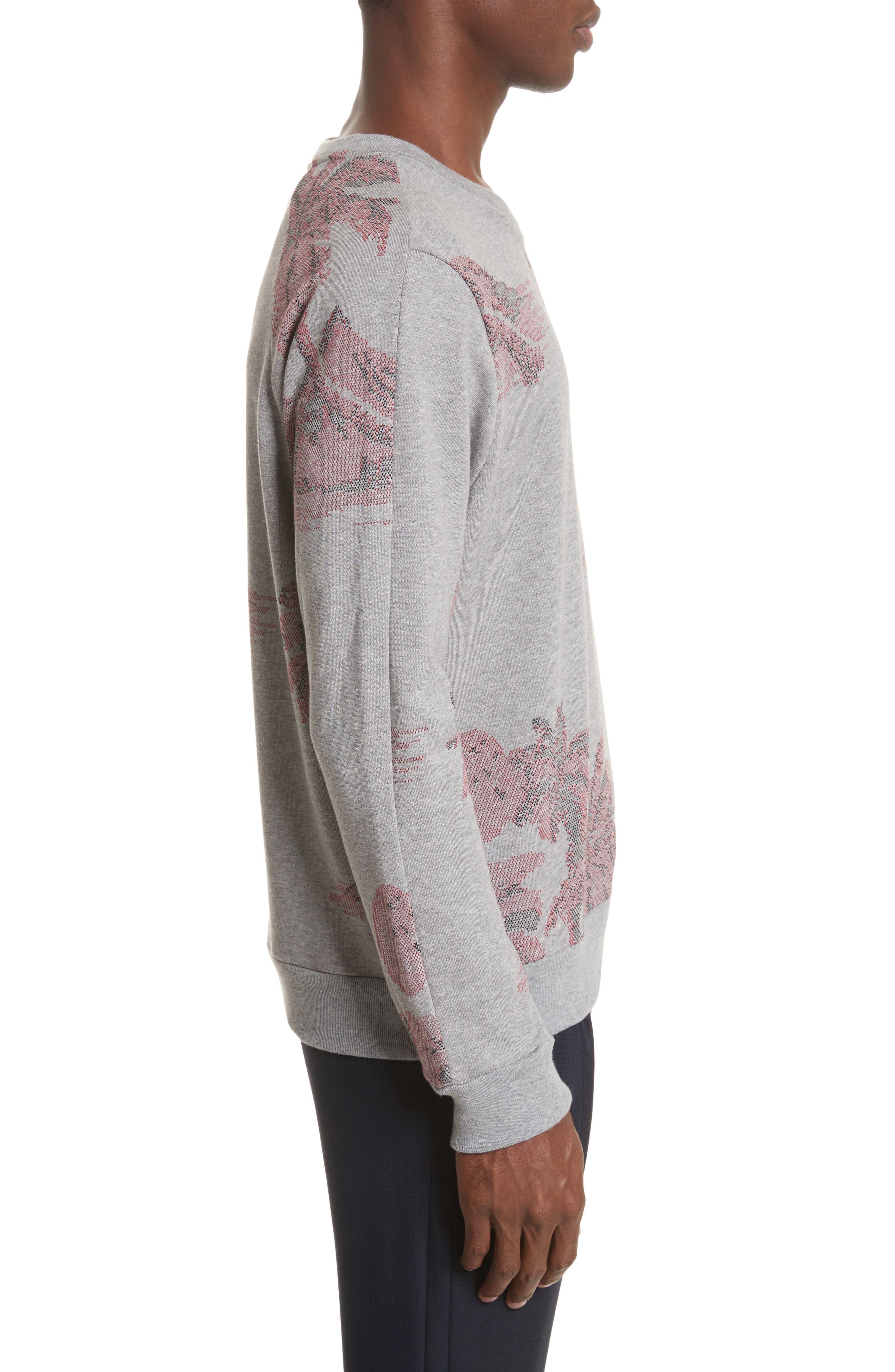 Crewneck Sweatshirt,                             Alternate thumbnail 3, color,                             24 Grey
