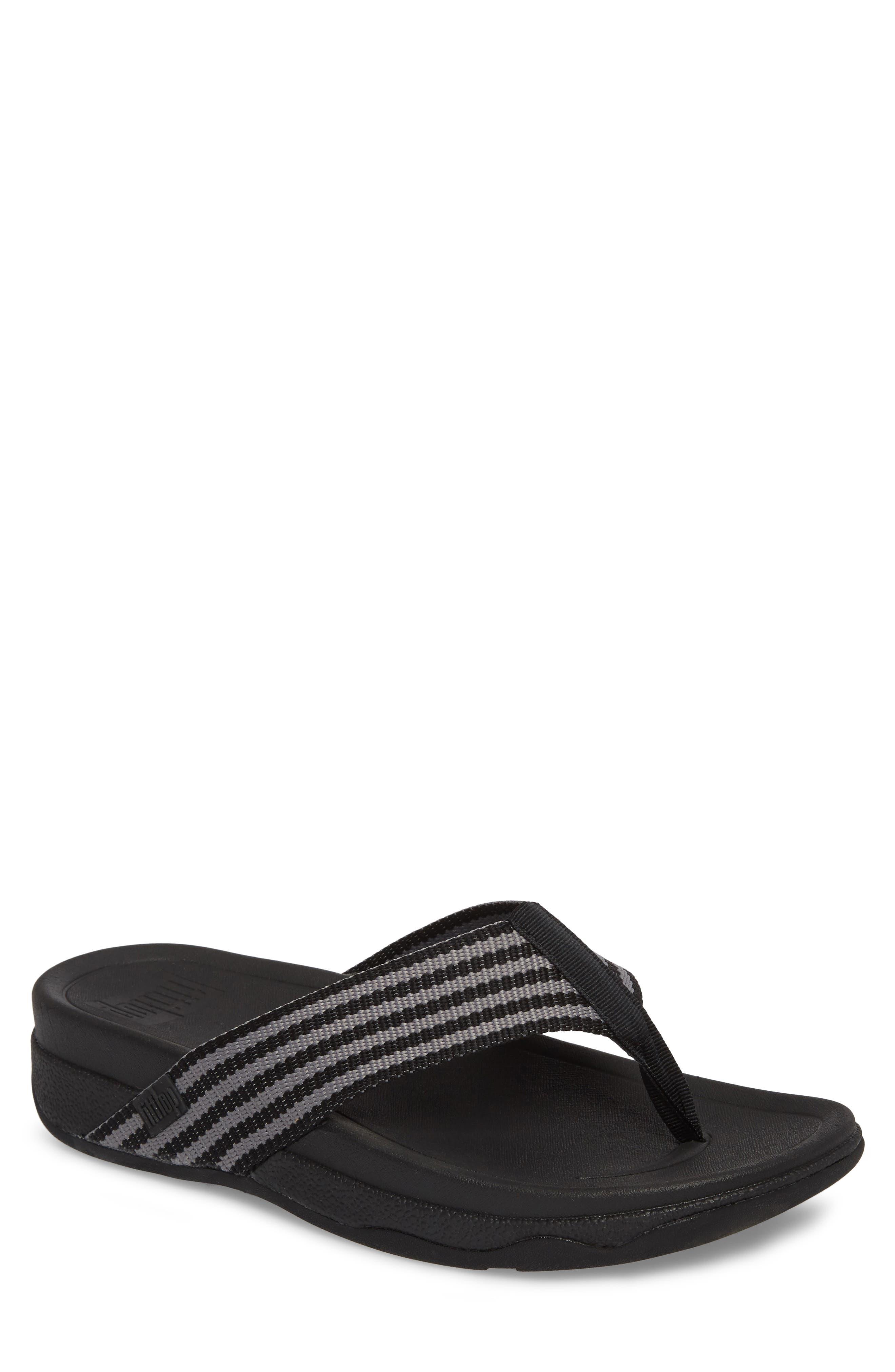 'Surfer' Flip Flop,                         Main,                         color, Black / Grey