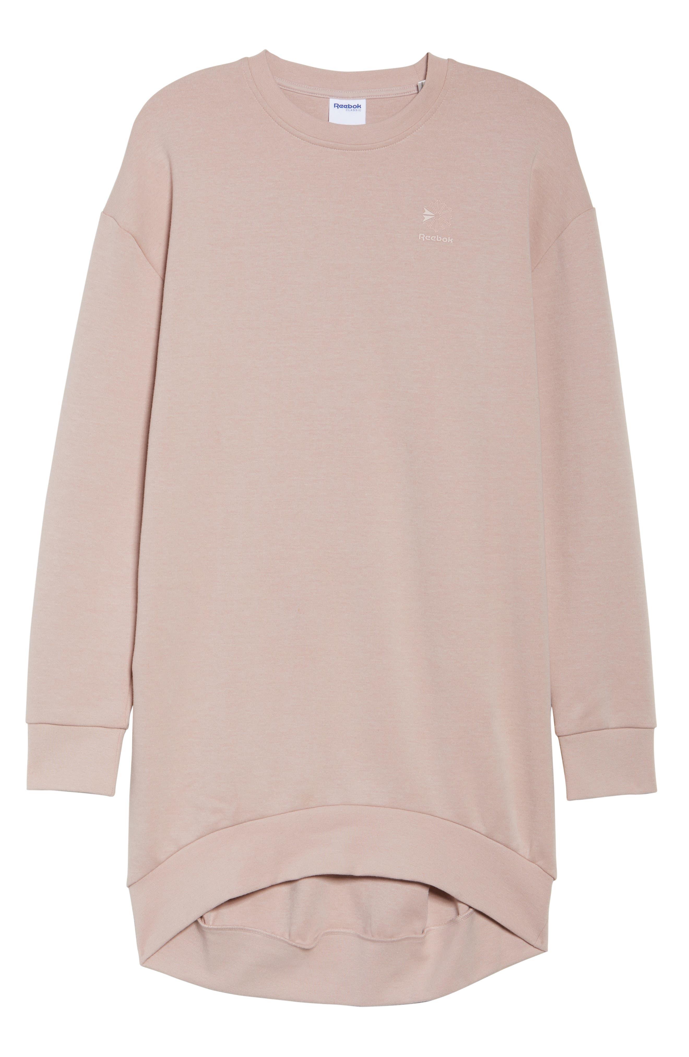 Oversized Sweatshirt,                         Main,                         color, Shell Pink
