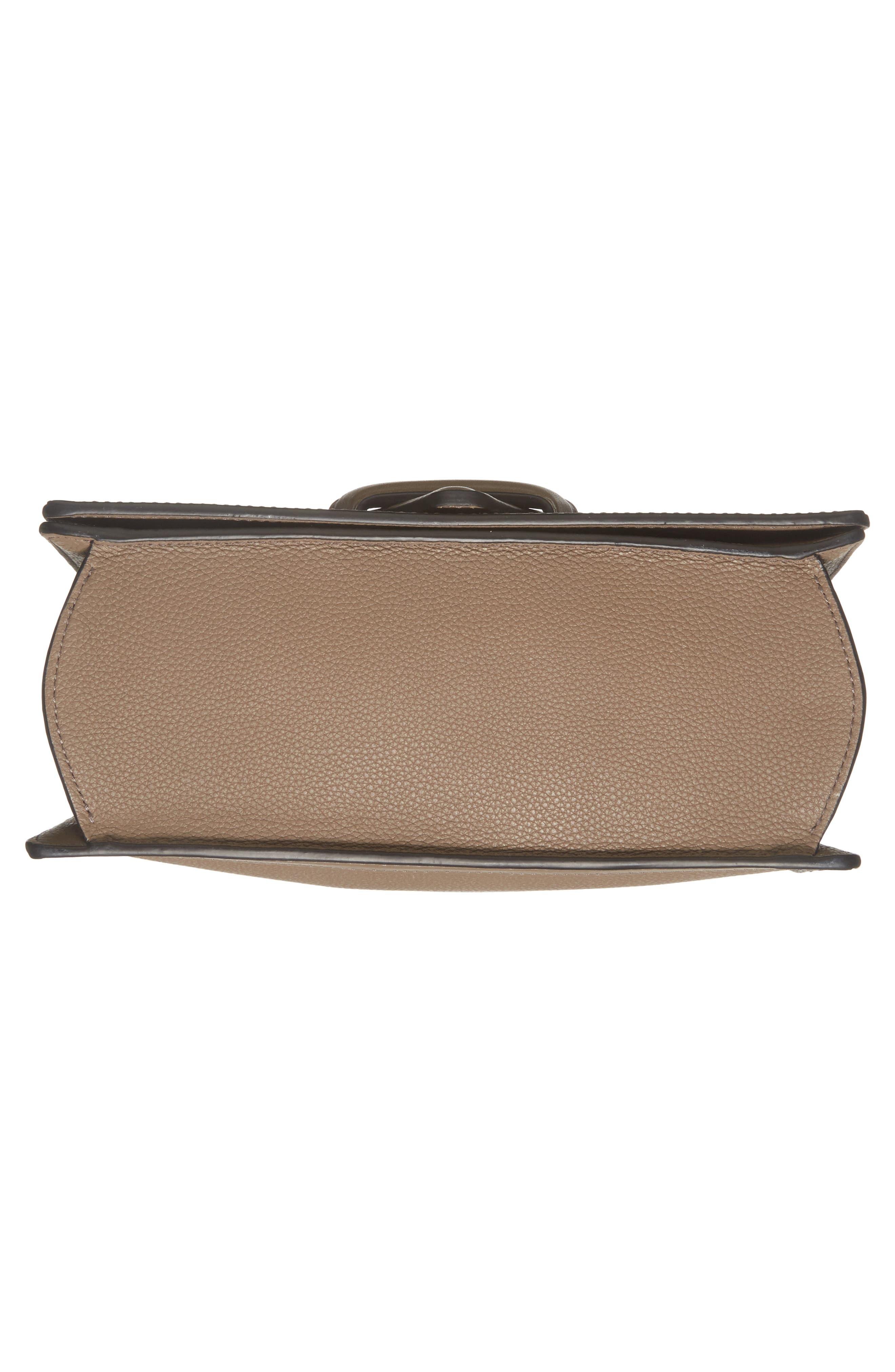 Medium Barcelona Leather Crossbody Bag,                             Alternate thumbnail 5, color,                             Dark Taupe