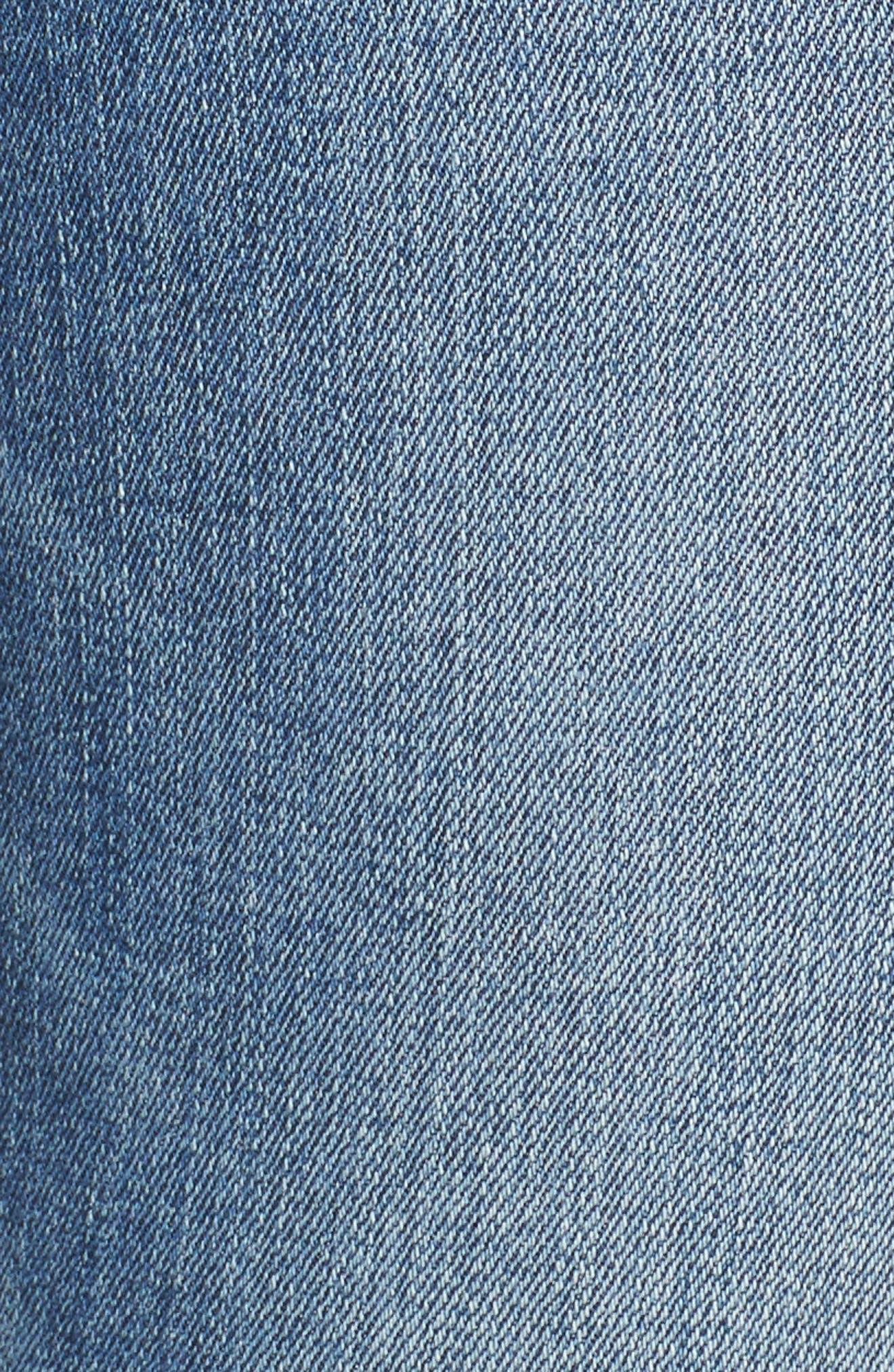 Transcend Vintage - Leggy Ultra Skinny Jeans,                             Alternate thumbnail 6, color,                             Rissy