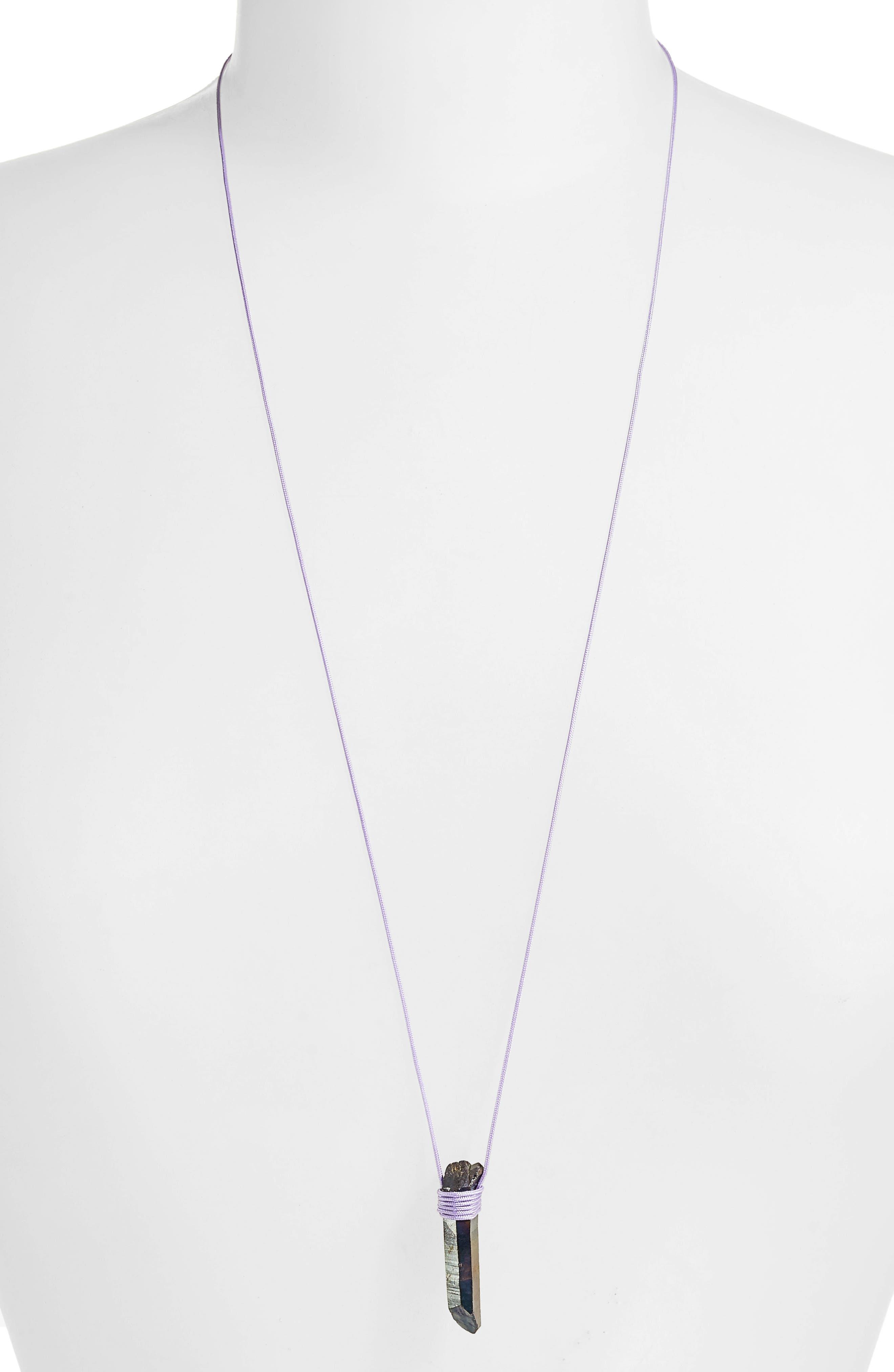 Alternate Image 2  - Tina Lilienthal Charcoal Quartz Pendant Necklace