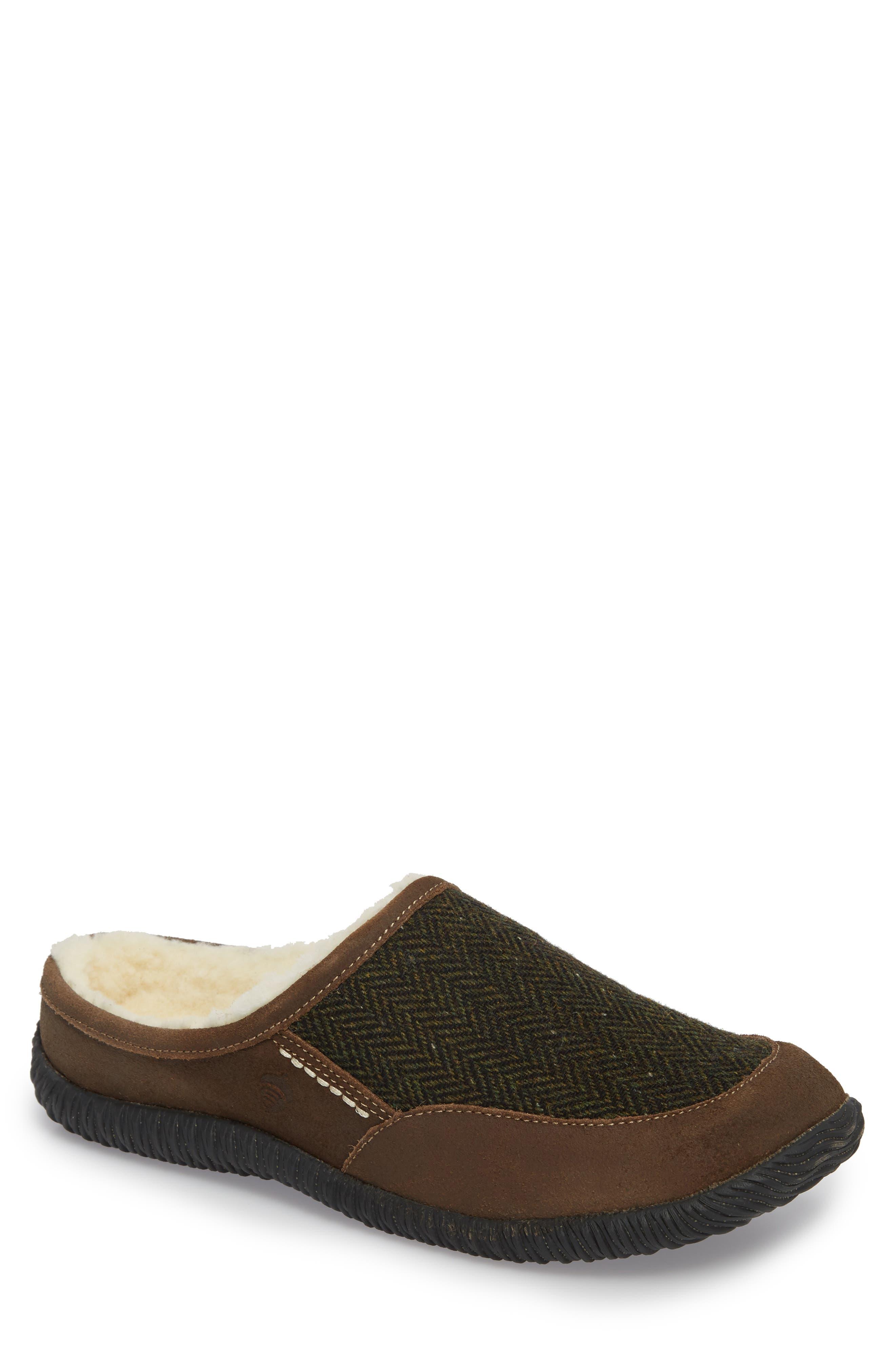 'Rambler' Mule Slipper,                         Main,                         color, Olive Tweed/ Brown