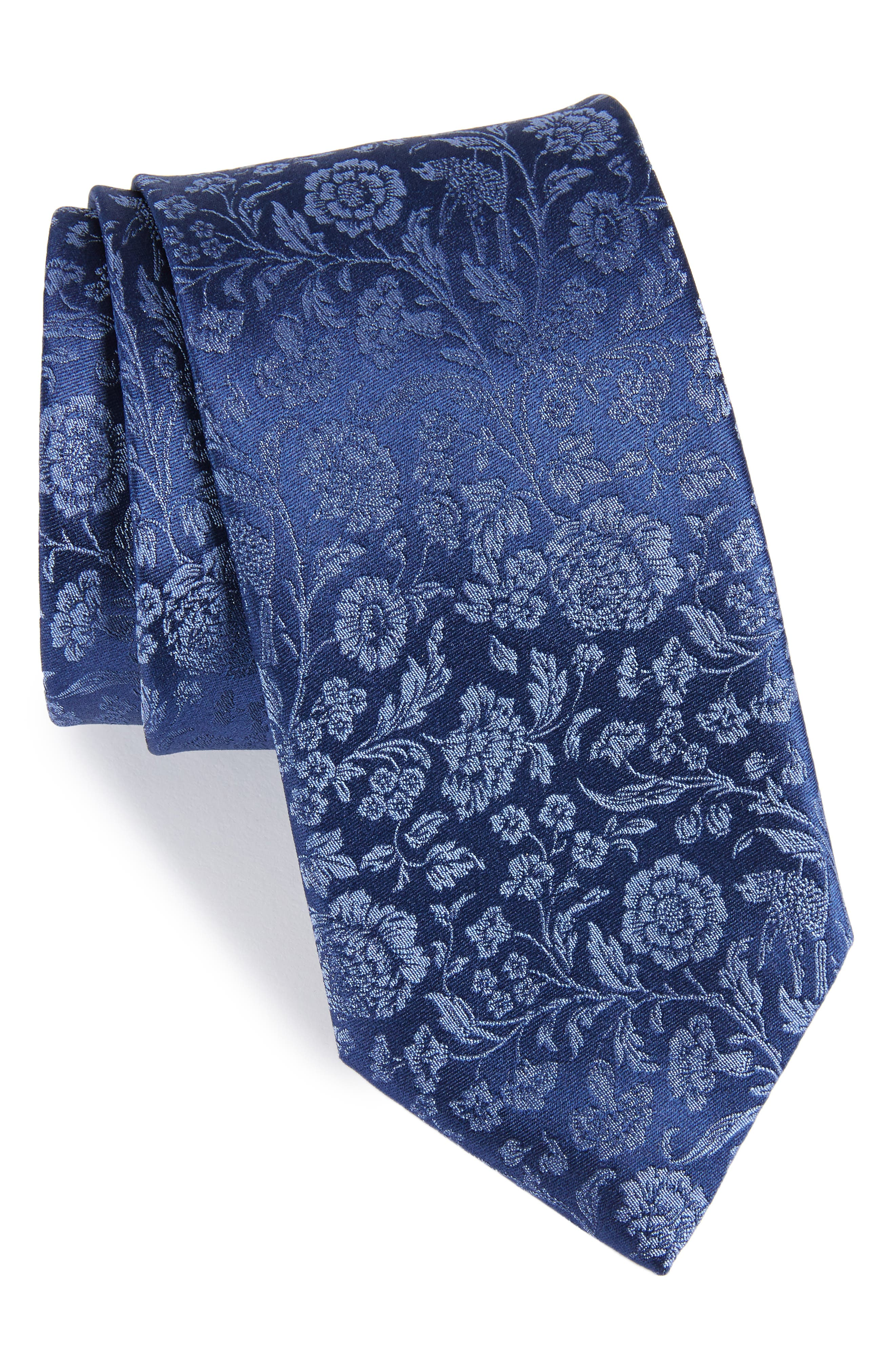 Main Image - Canali Floral Silk Tie