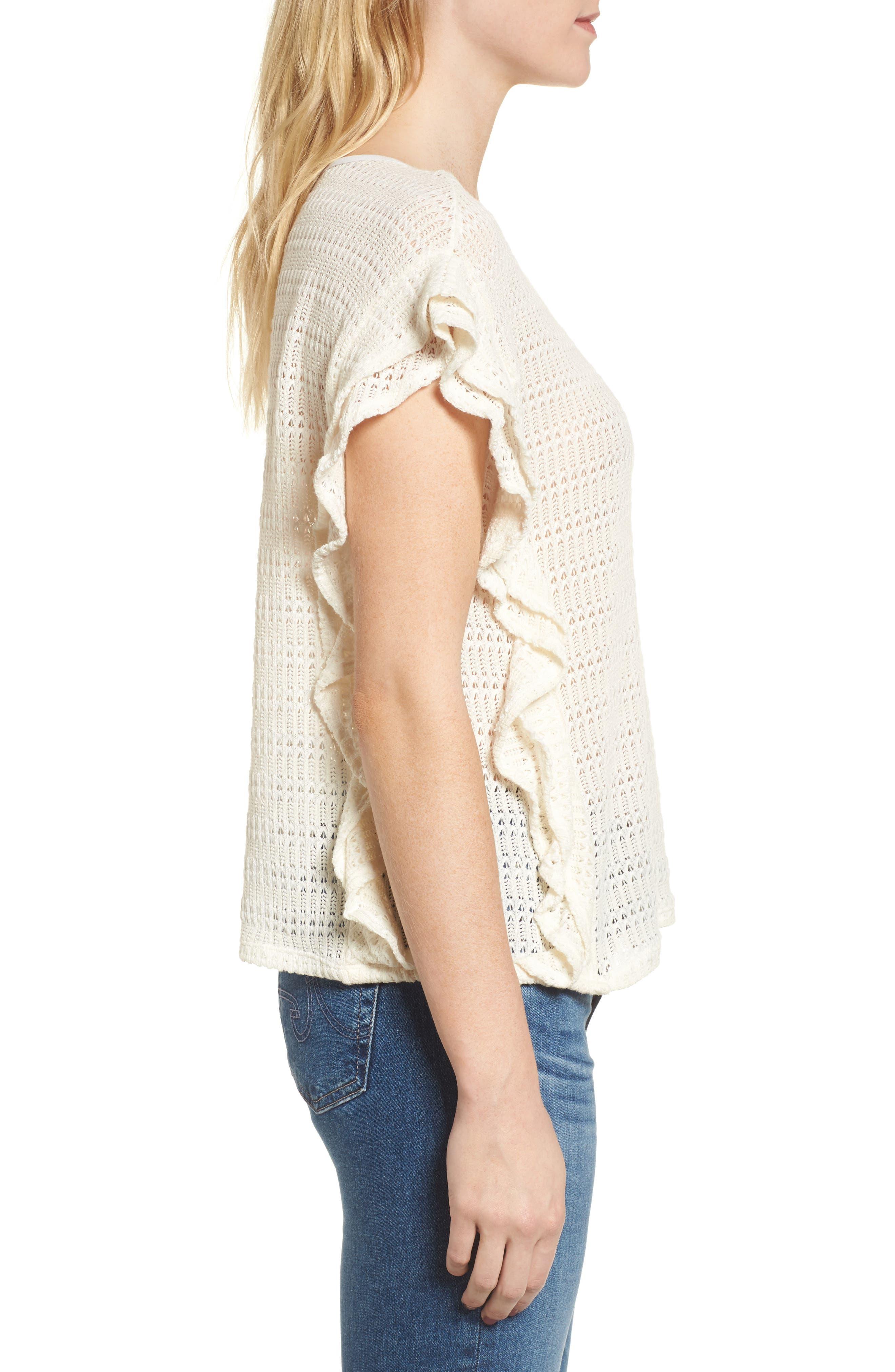 Alternate Image 3  - Ella Moss Crochet Pullover Top