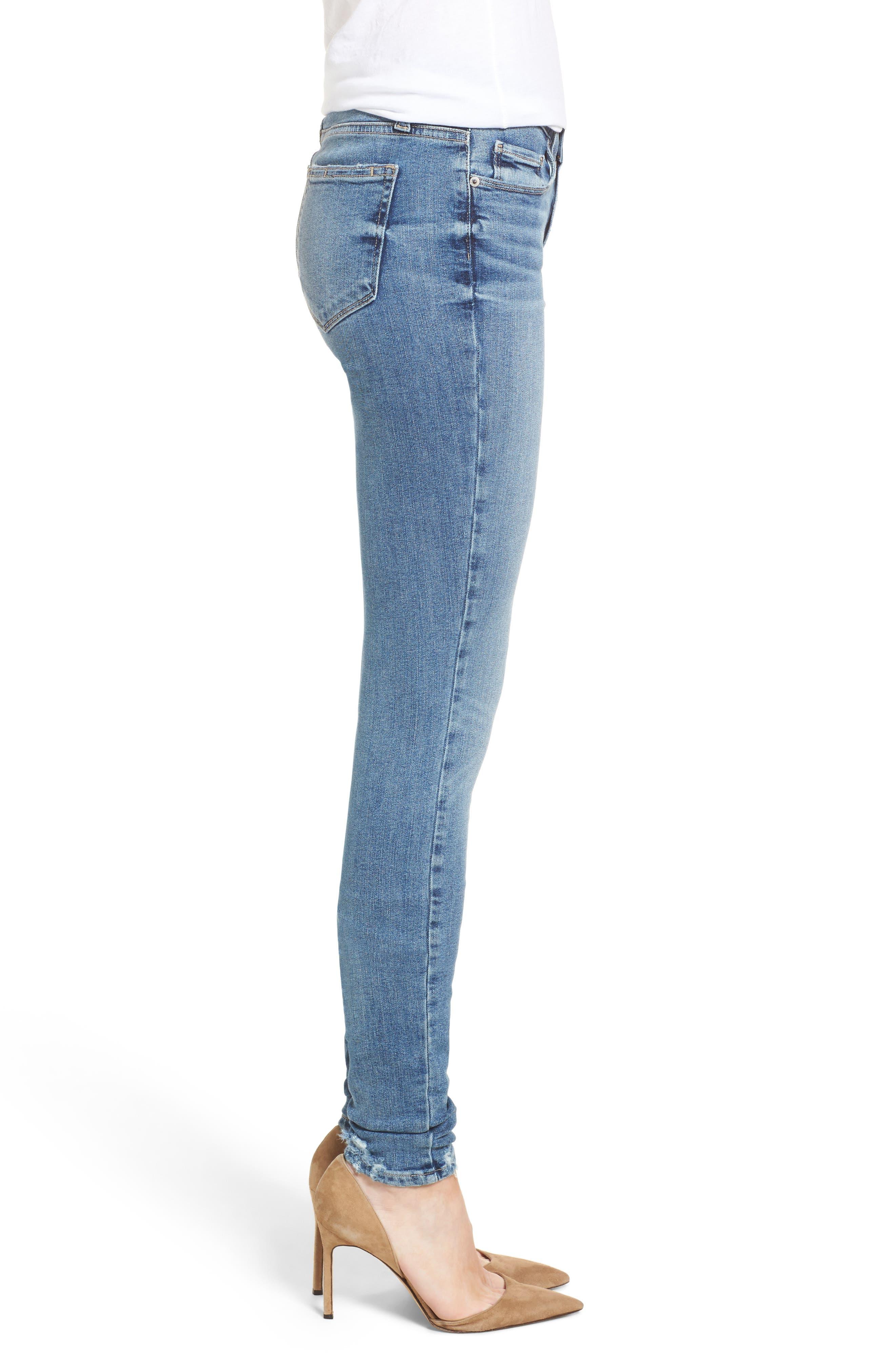 Transcend Vintage - Leggy Ultra Skinny Jeans,                             Alternate thumbnail 3, color,                             Rissy