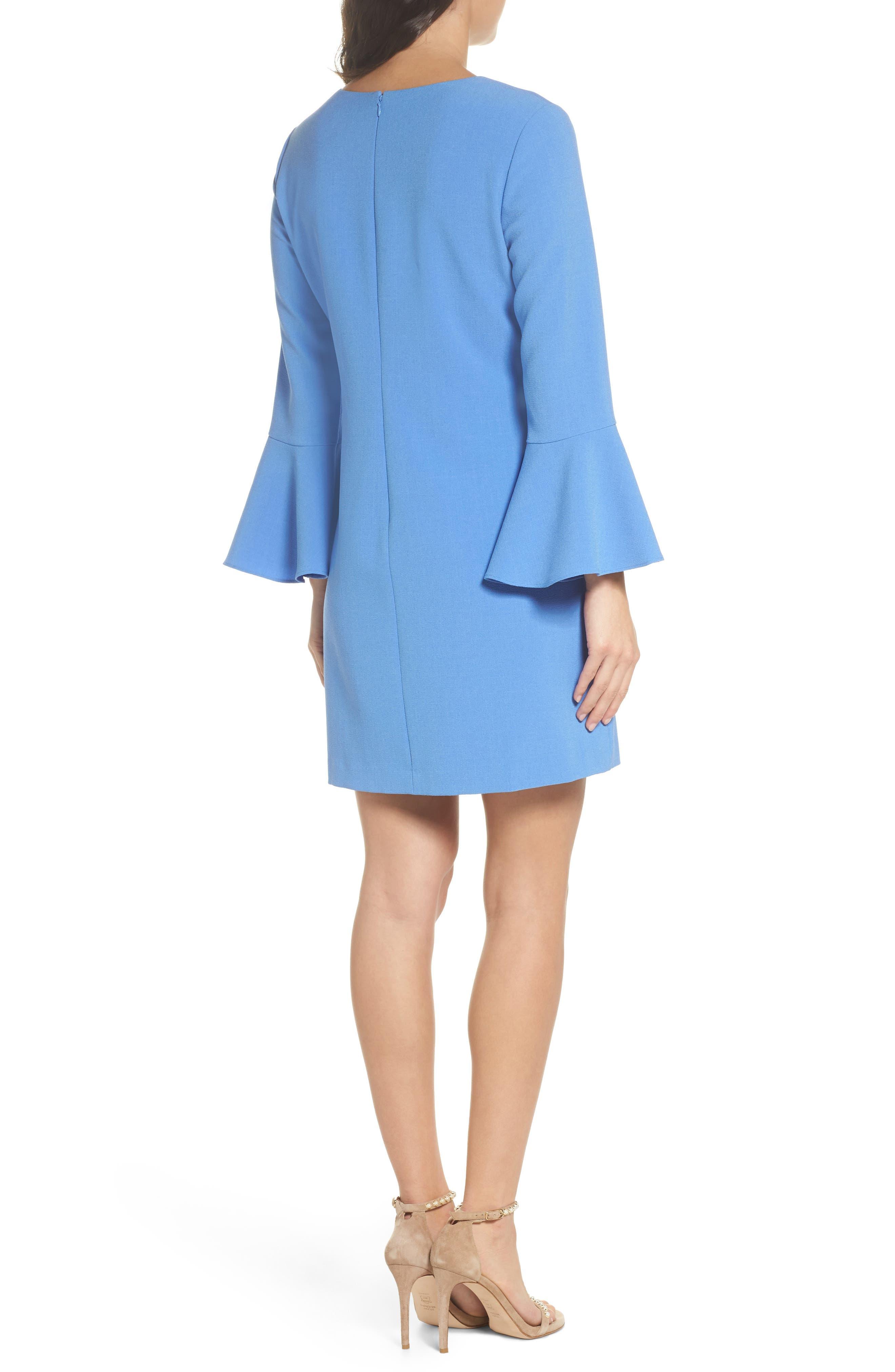 Ruffle Shift Dress,                             Alternate thumbnail 2, color,                             Blue Azurite