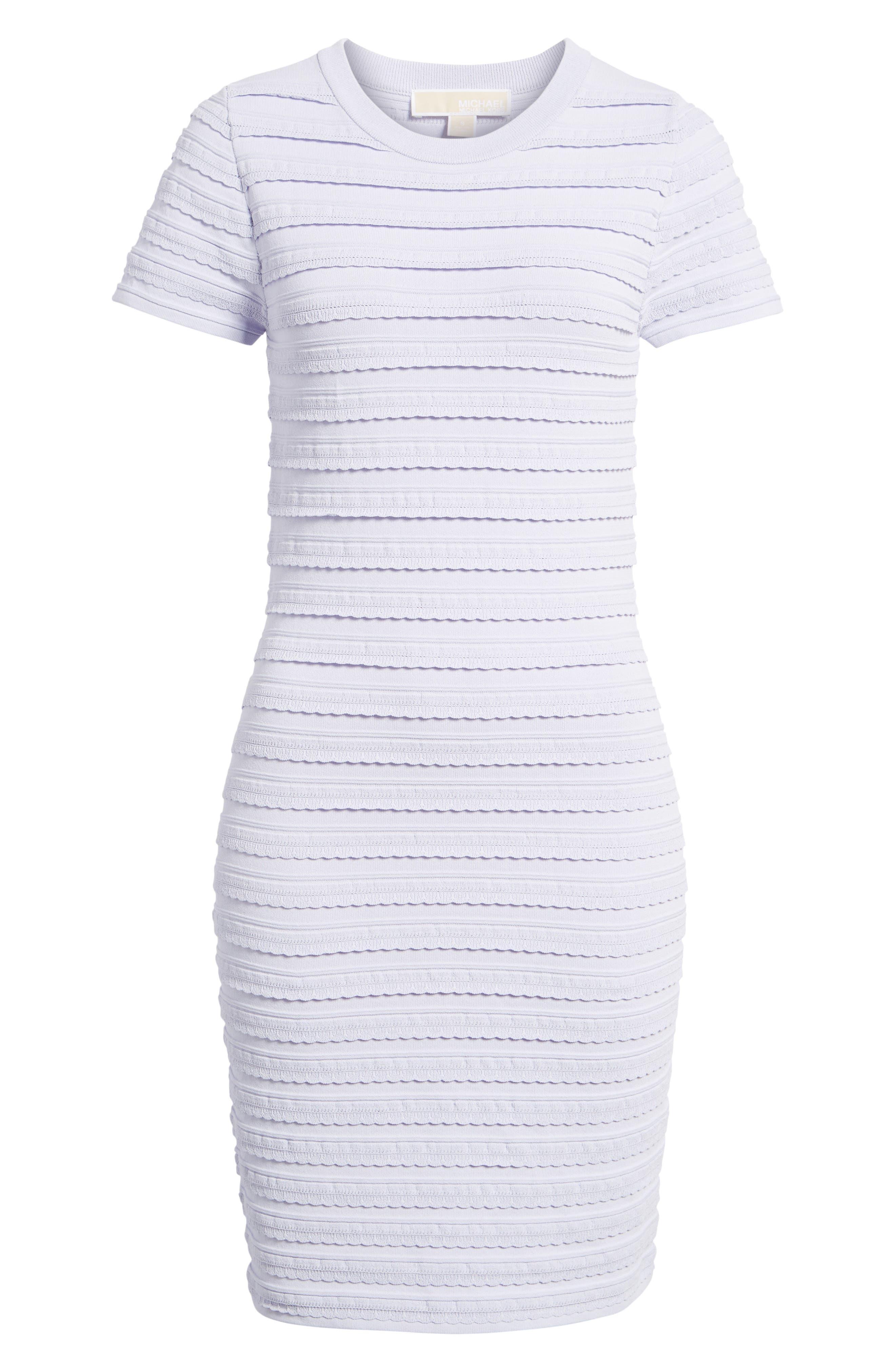 Tiered Sheath Dress,                             Alternate thumbnail 6, color,                             Light Quartz