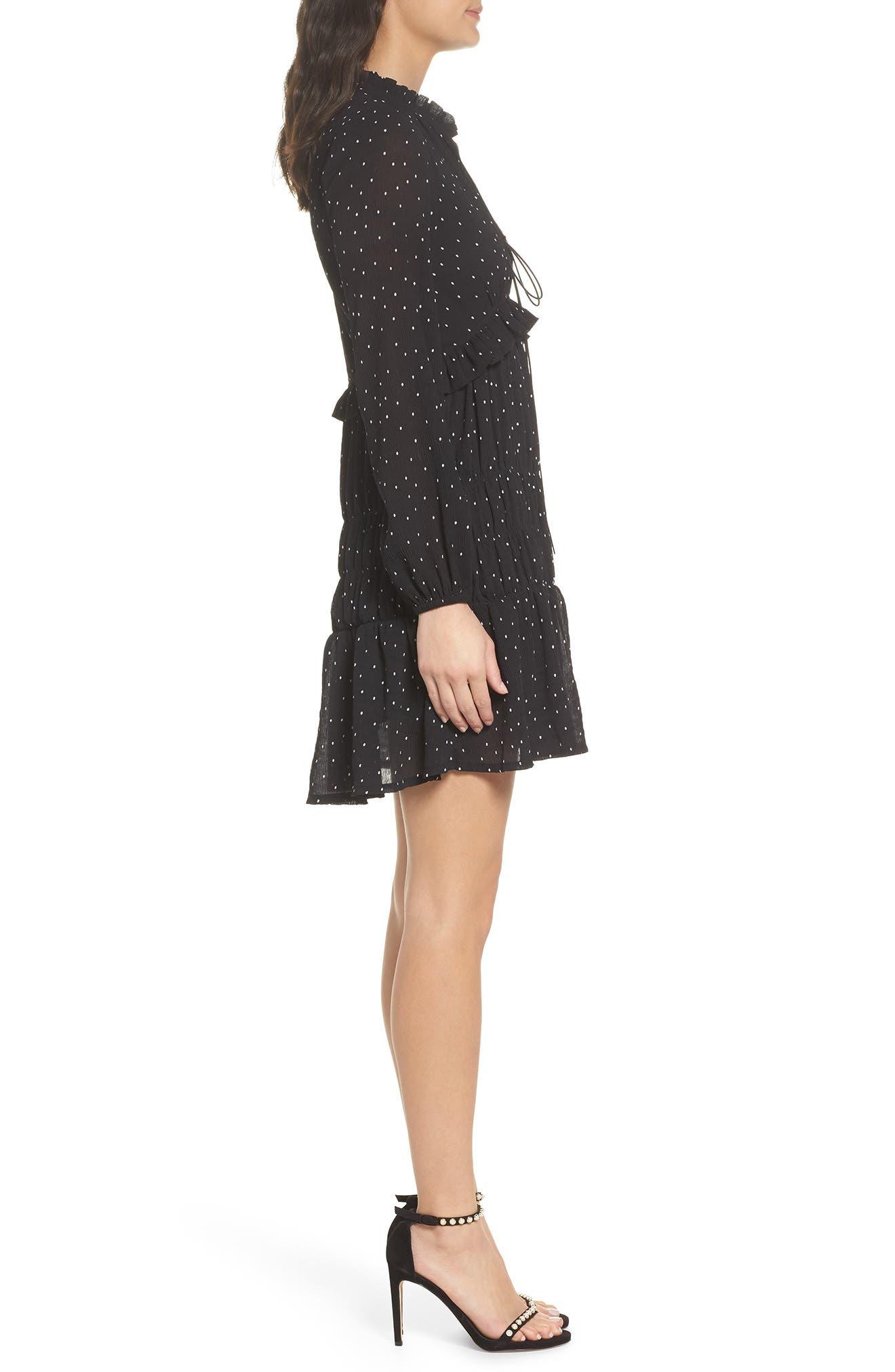 Lola Dress,                             Alternate thumbnail 3, color,                             Black