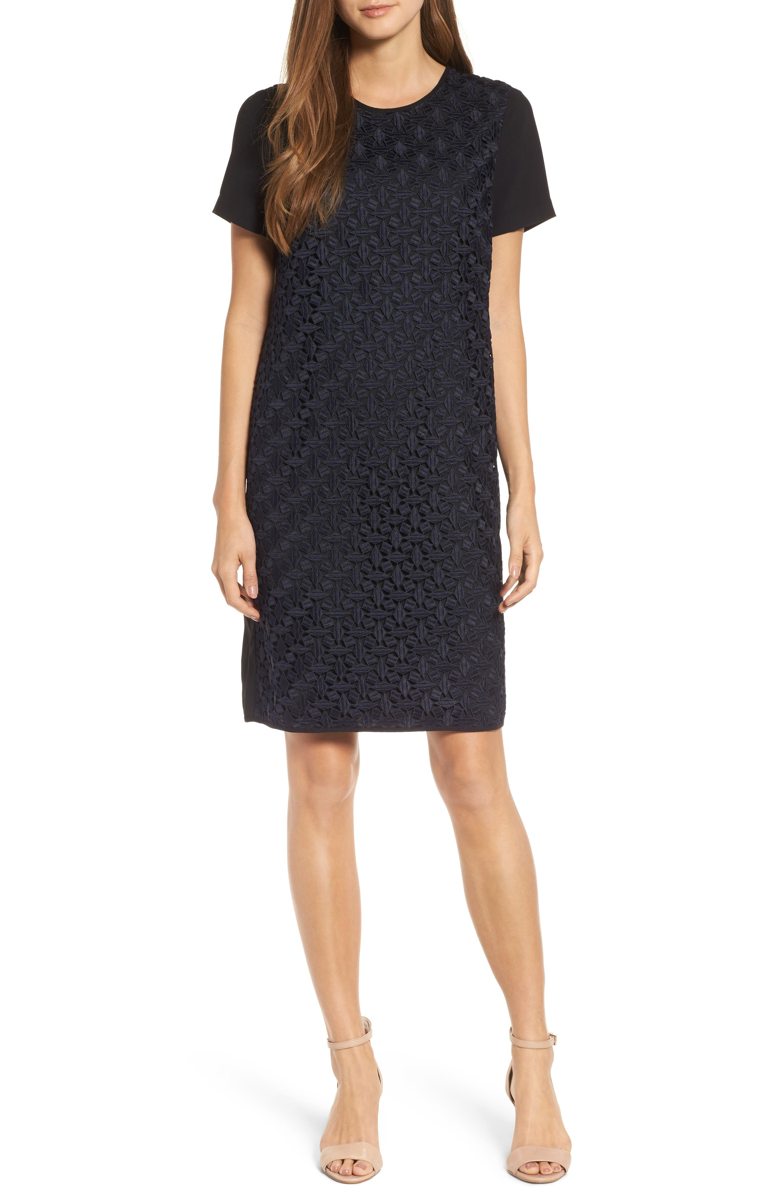 Night Out Shift Dress,                         Main,                         color, Midnight