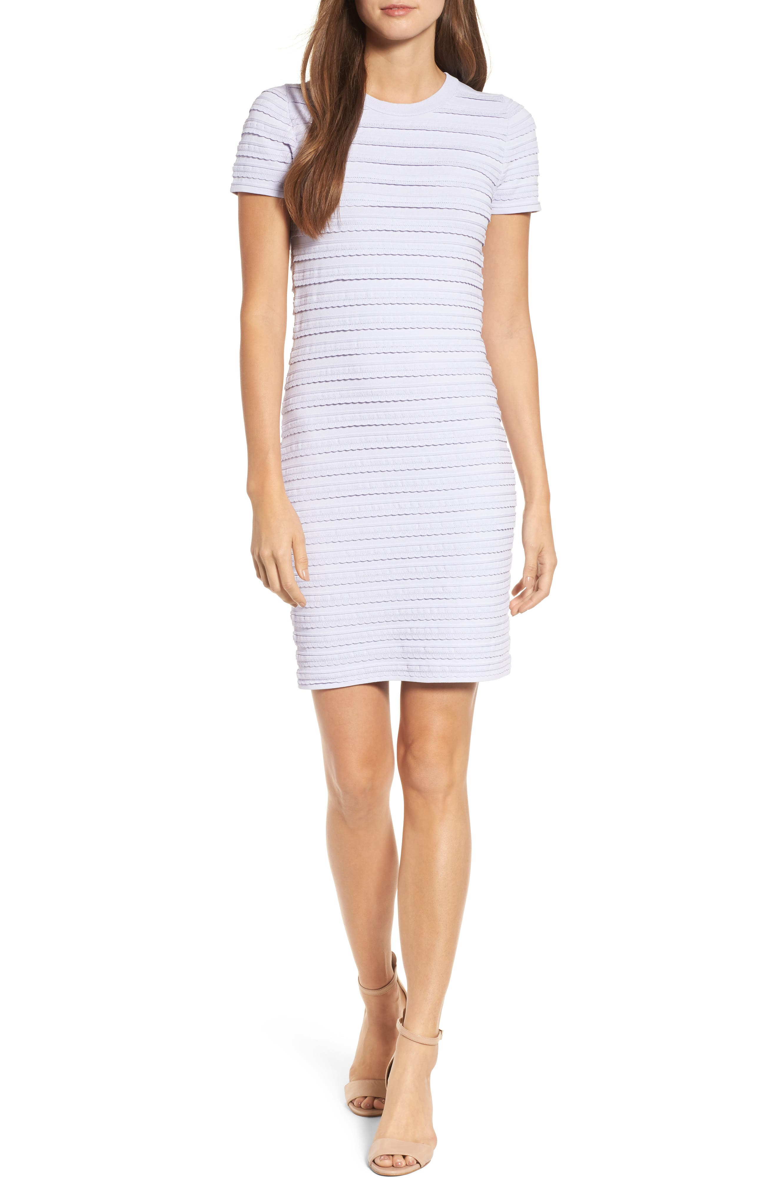 Tiered Sheath Dress,                             Main thumbnail 1, color,                             Light Quartz