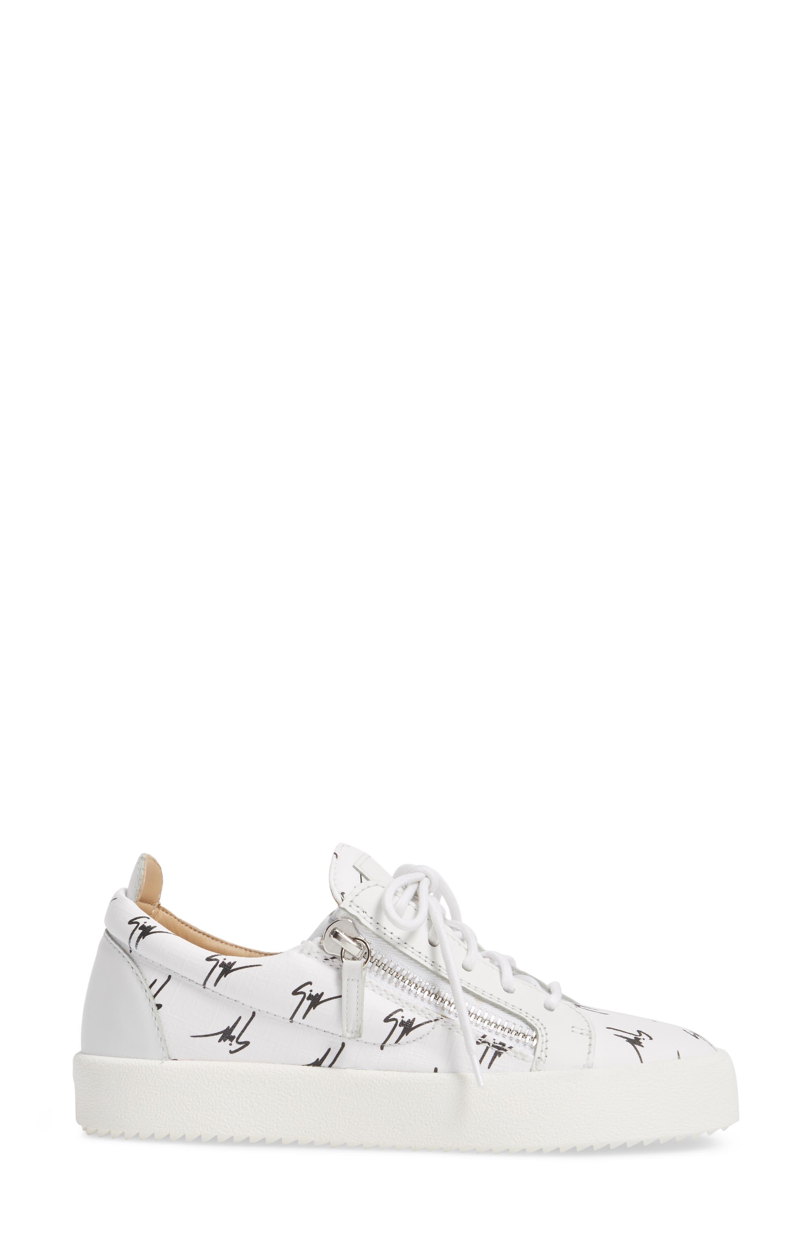 Maylondon Logo Sneaker,                             Alternate thumbnail 3, color,                             White/ Black