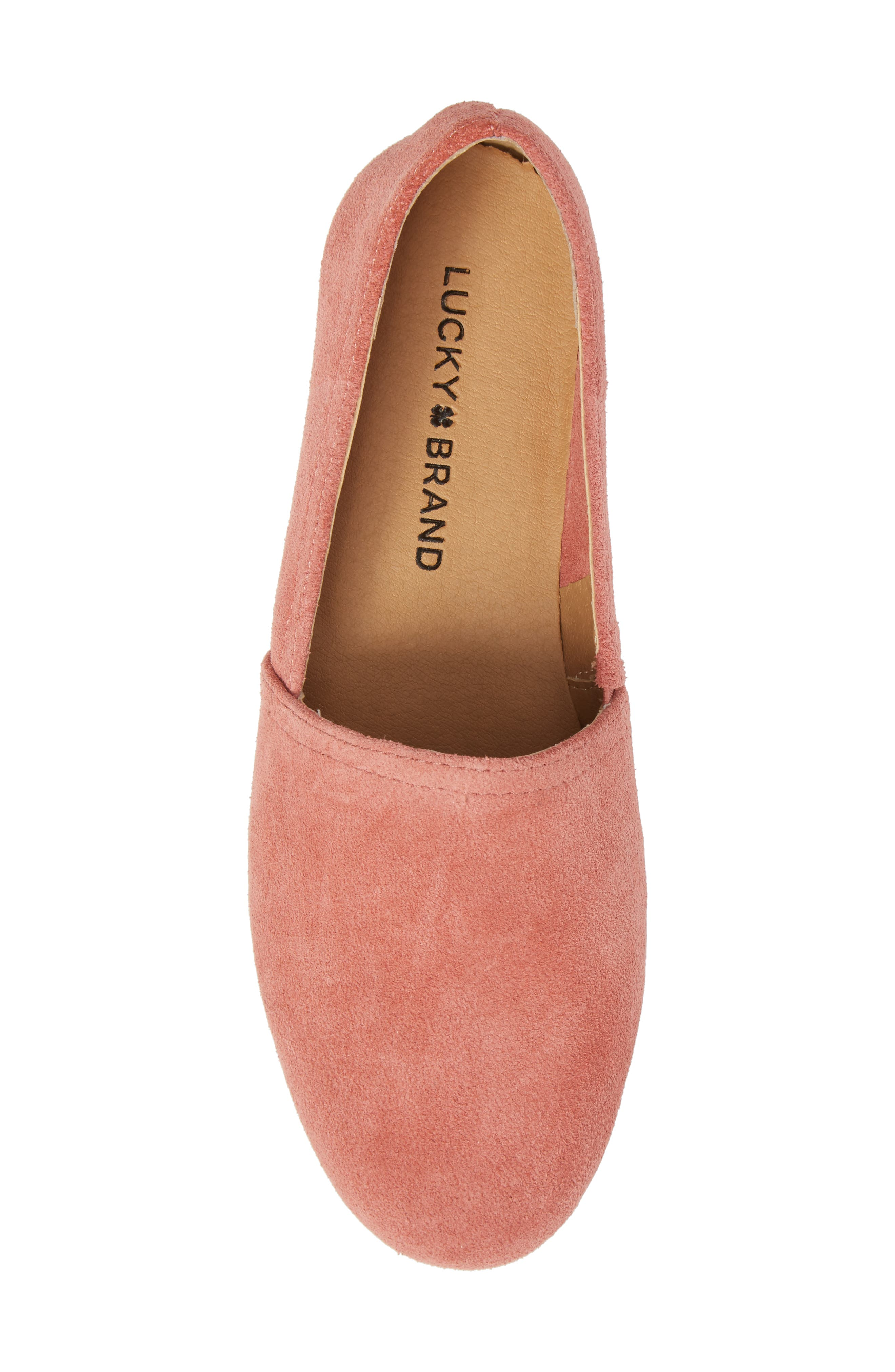 Brettany Loafer,                             Alternate thumbnail 5, color,                             Canyon Rose Suede