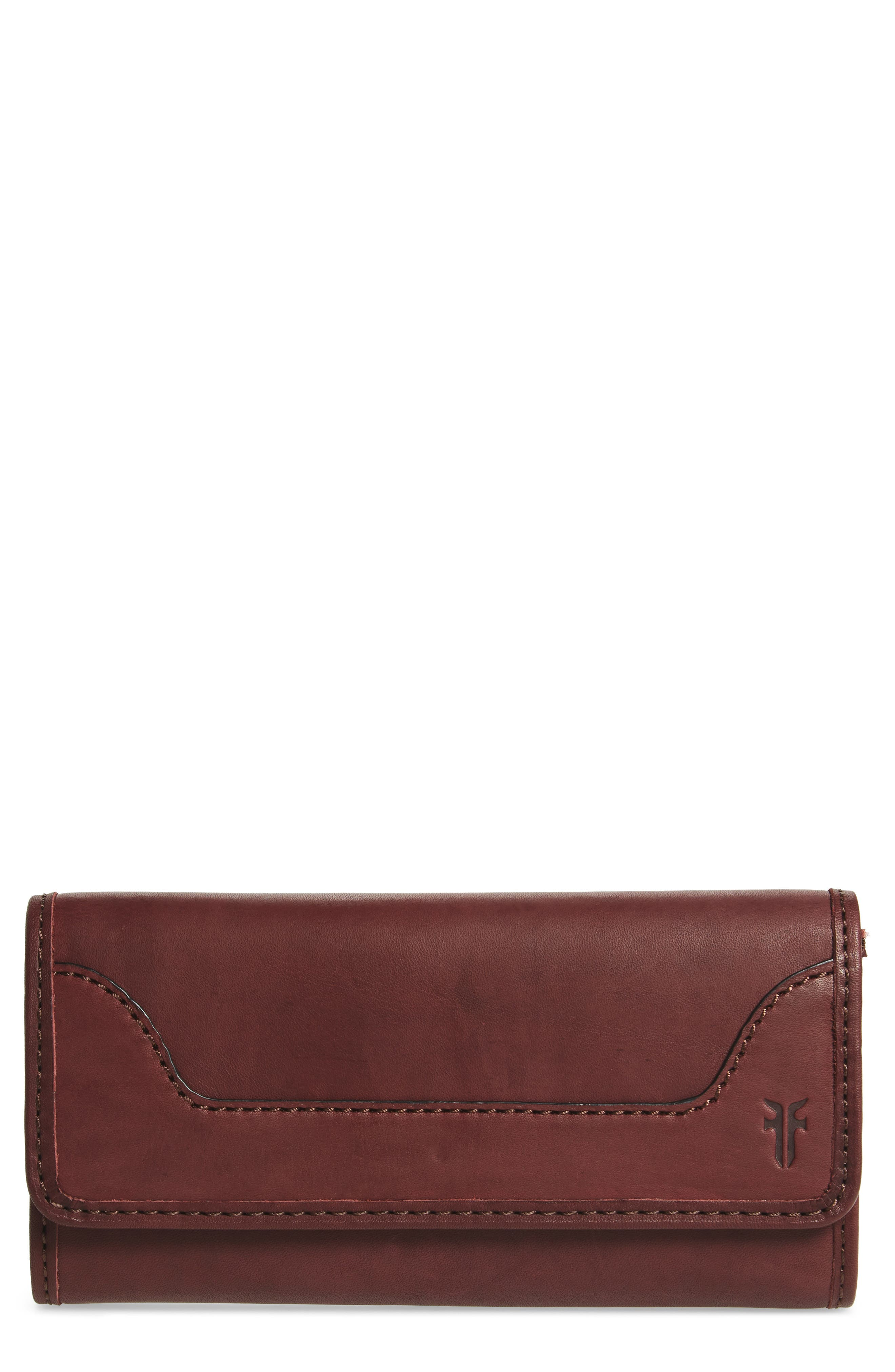 Frye Melissa Large Trifold Leather Wallet